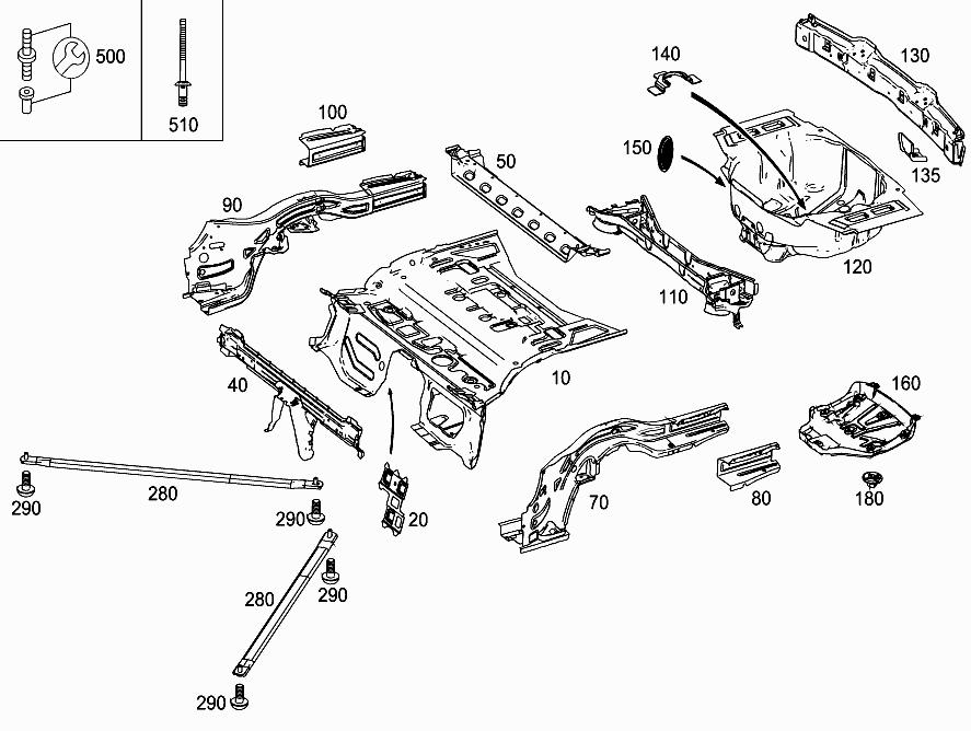 FG 172 404 - REAR END FLOOR > Mercedes EPC Online