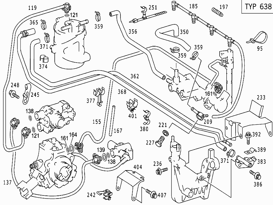 M 611.961 - FUEL SYSTEM USED FOR 638/SPRINTER > Mercedes EPC Online >  nemigaparts.comParts catalogs