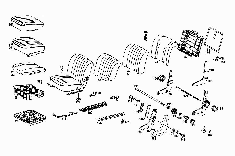 FG 115 010 - PASSENGER SEATS > Mercedes EPC Online