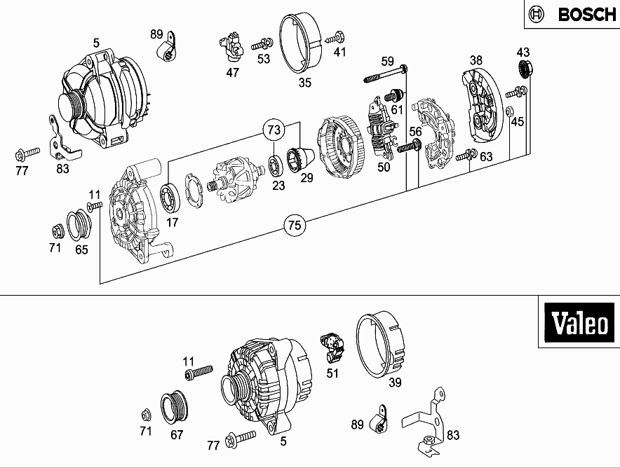 M 112 912 - ALTERNATOR > Mercedes EPC Online > nemigaparts com