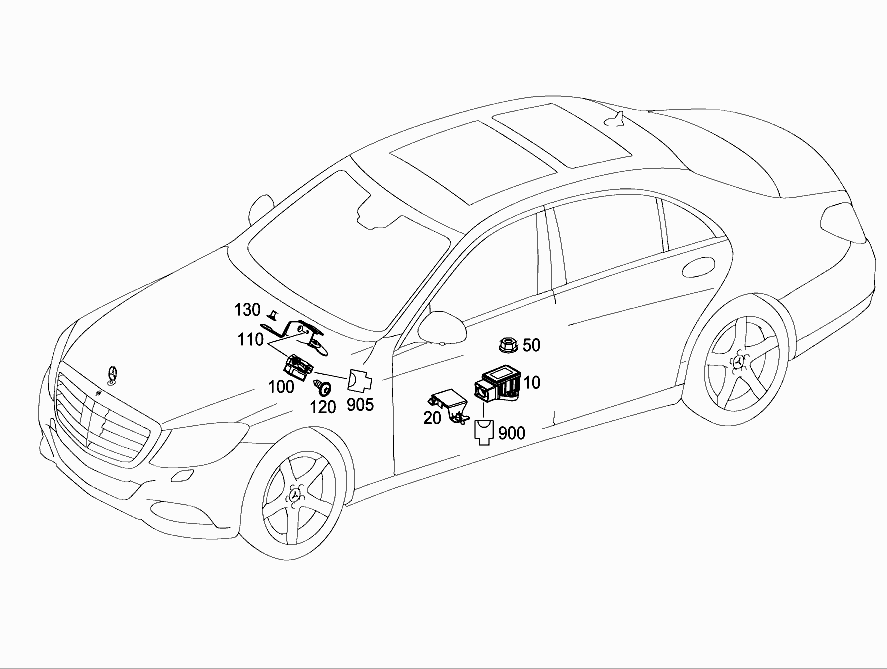 FG 222 033 - ELECTRONIC STABILITY PROGRAM (ESP) > Mercedes EPC