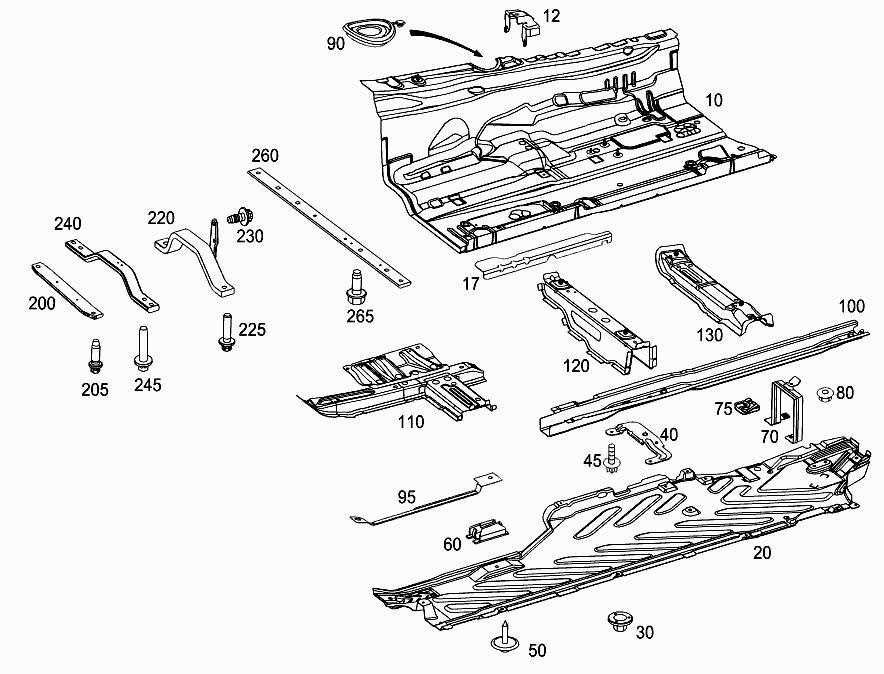 FG 205 287 - FRONT FLOOR > Mercedes EPC Online > nemigaparts com