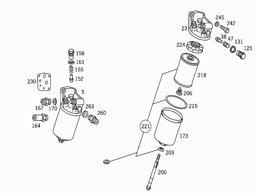 M 616 918 - OIL FILTER > Mercedes EPC Online > nemigaparts com