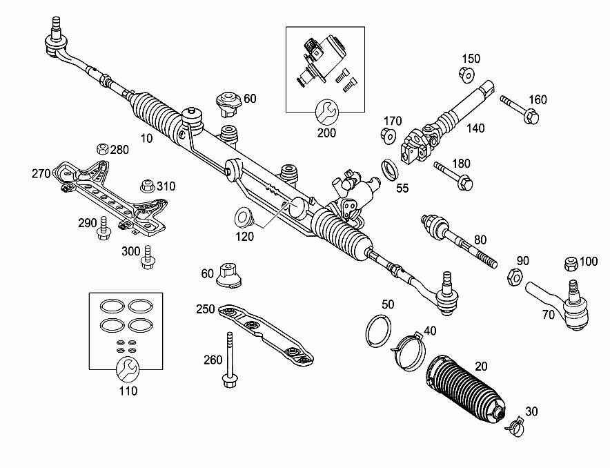 FG 203 081 - STEERING GEAR > Mercedes EPC Online