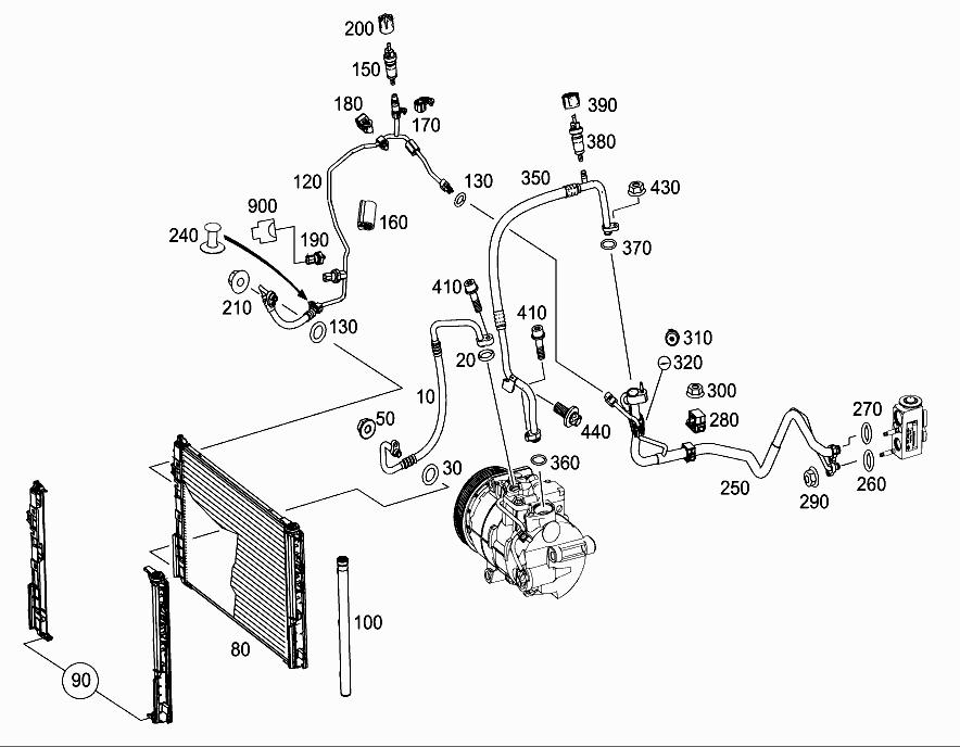 FG 117 301 - REFRIGERANT LINE ARRANGEMENT > Mercedes EPC