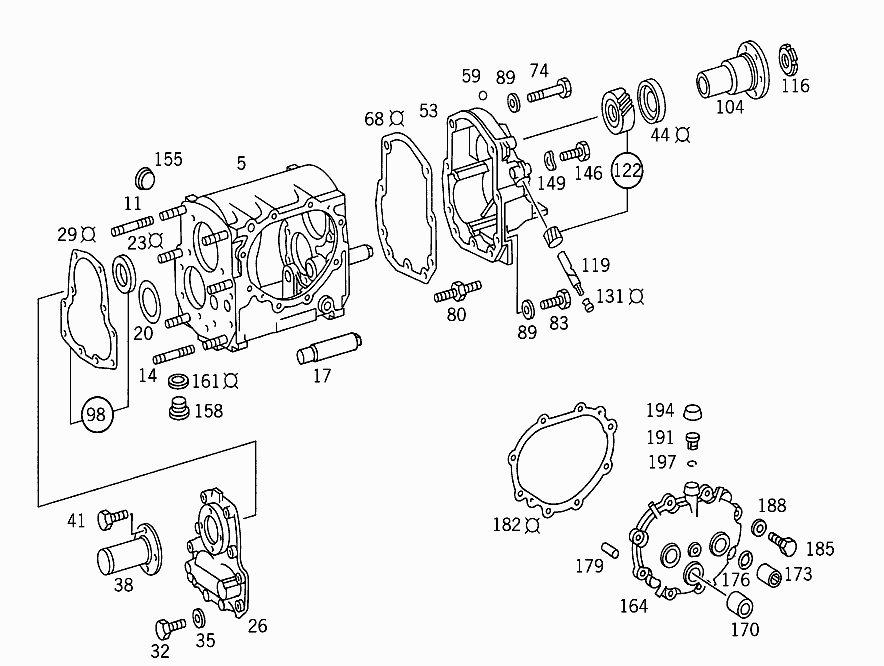 GM 711 113 - TRANSMISSION CASE AND COVER > Mercedes EPC