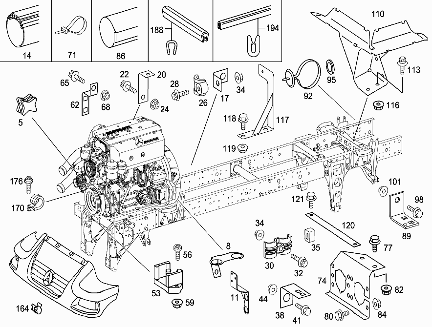 fg 405 123 fastening and bracket for wiring harnesses mercedes Three-Way Switch Receptacle Wiring fastening and bracket for wiring harnesses