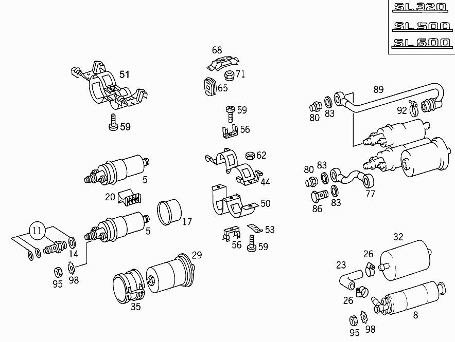 FG 129 067 - FUEL PUMP PACKAGE > Mercedes EPC Online