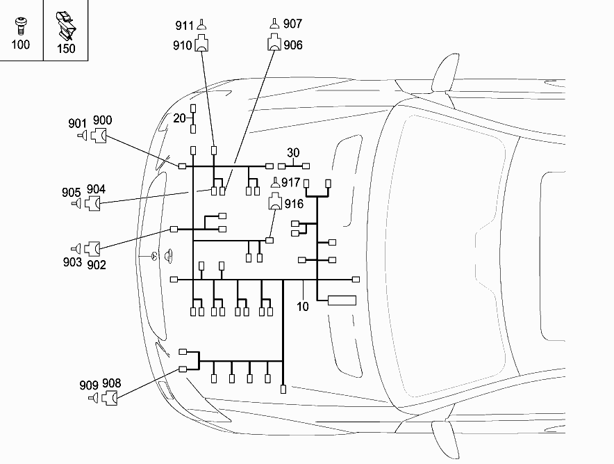 M 133 980 - ENGINE CABLE HARNESS > Mercedes EPC Online