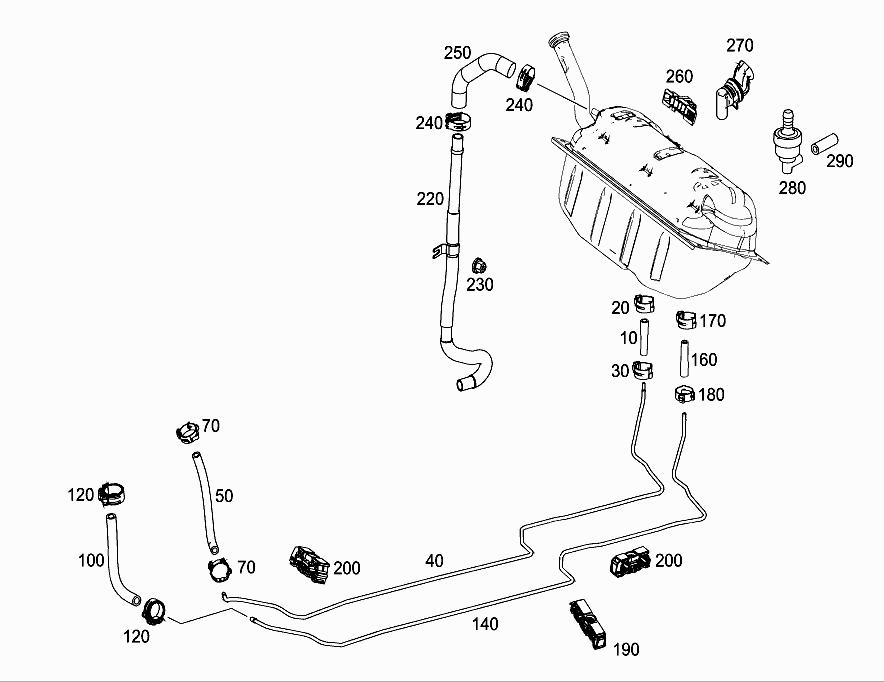 FG 172 404 - FUEL LINES, DIESEL VEHICLES > Mercedes EPC