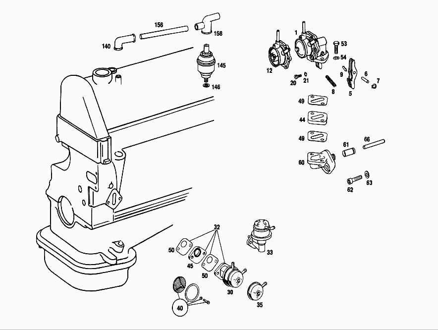 M 115 951 - FUEL FILTER > Mercedes EPC Online > nemigaparts com