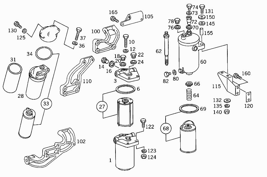 M 314 910 - FUEL FILTER > Mercedes EPC Online > nemigaparts com