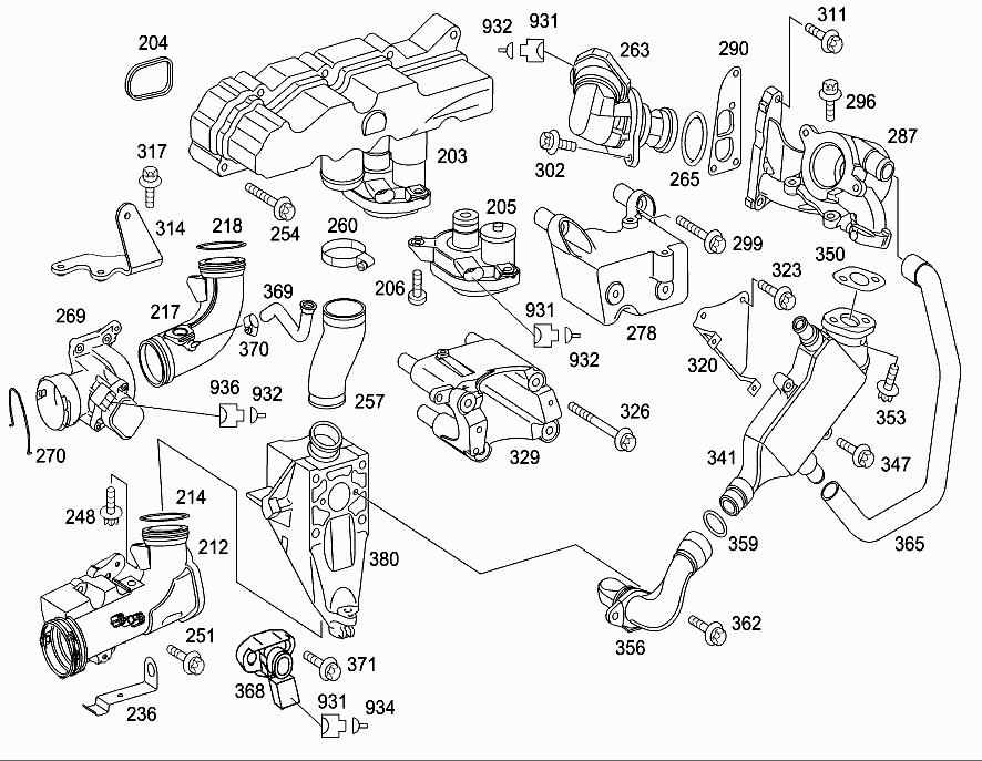 M 646 989 - INTAKE MANIFOLD > Mercedes EPC Online