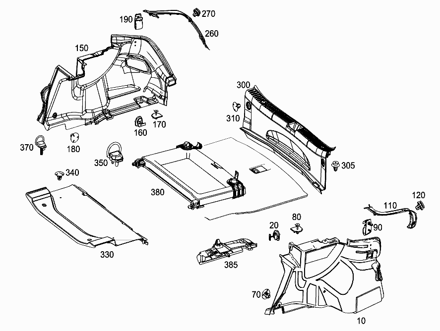 FG 205 148 - LUGGAGE COMPARTMENT COVERING > Mercedes EPC