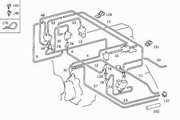 Схема вакуумных трубок мерседес вито 638