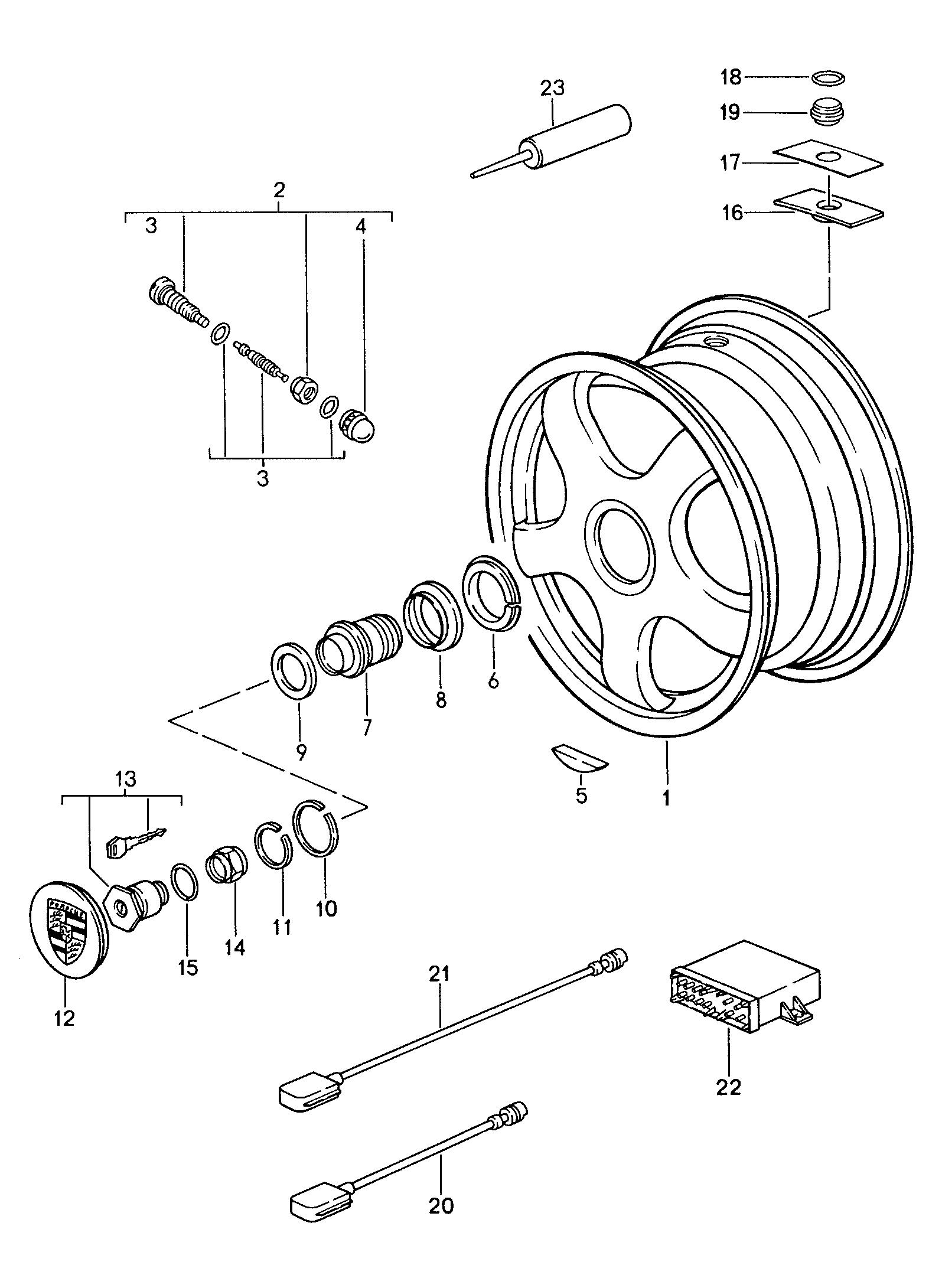 Porsche 959 1987 1988 Wheels Tyre Pressure Monitoring Wiring Diagram Pet