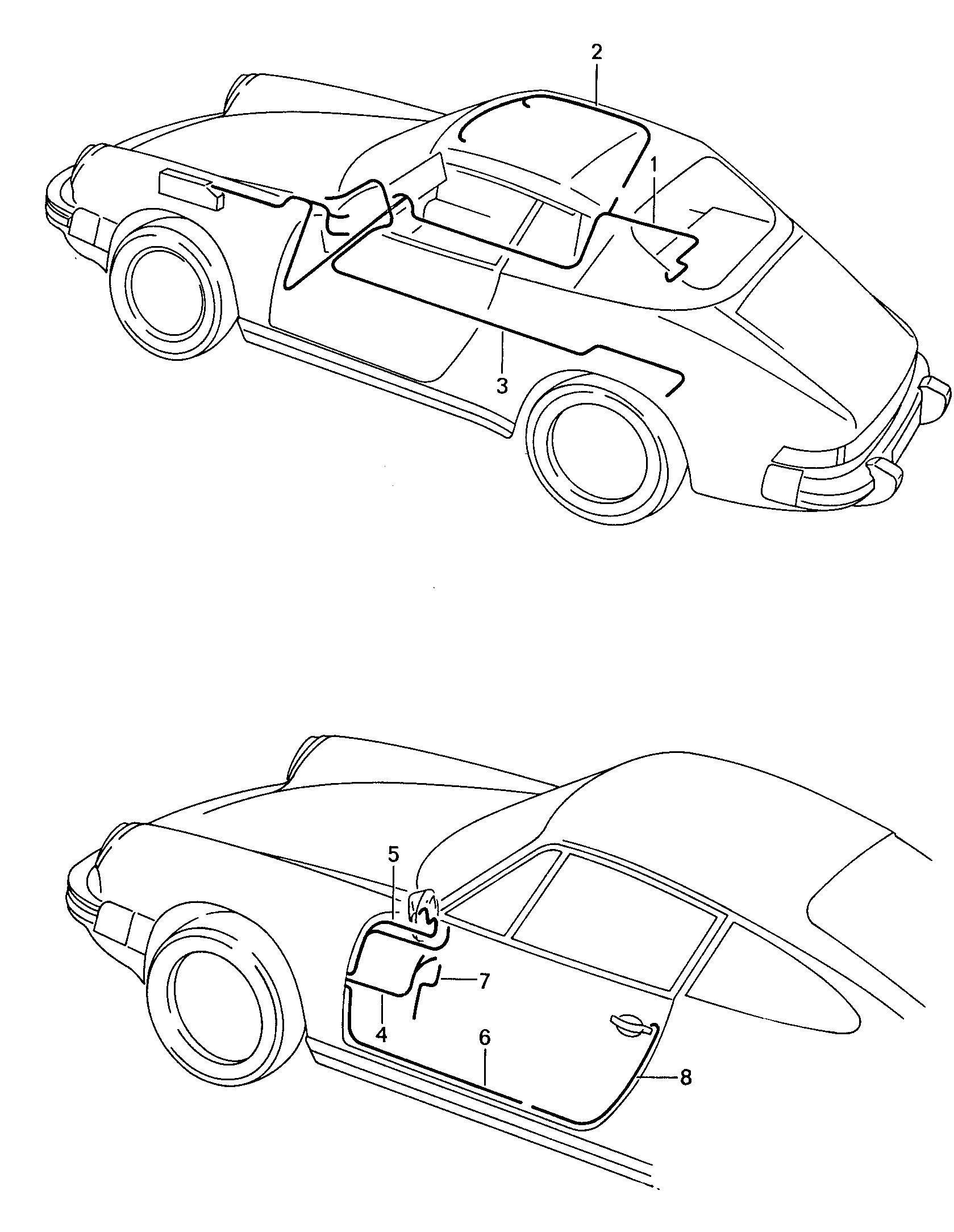 Porsche 911 1987 1989 Door Body Wiring Harnesses Harness Pet