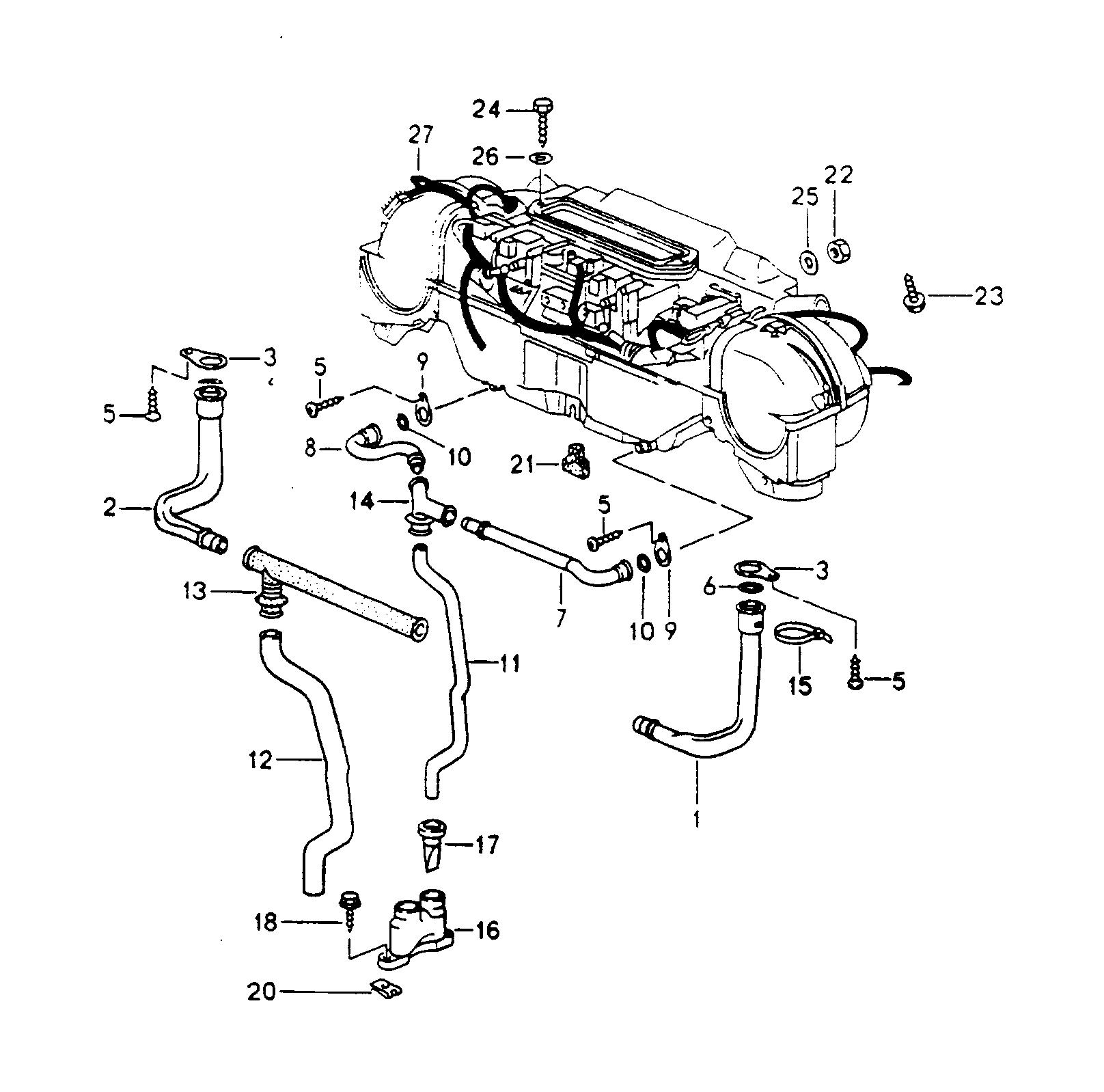 Porsche 911 Carrera 2 4 1989 1994 Mount Heater Air Wiring Diagram Pet