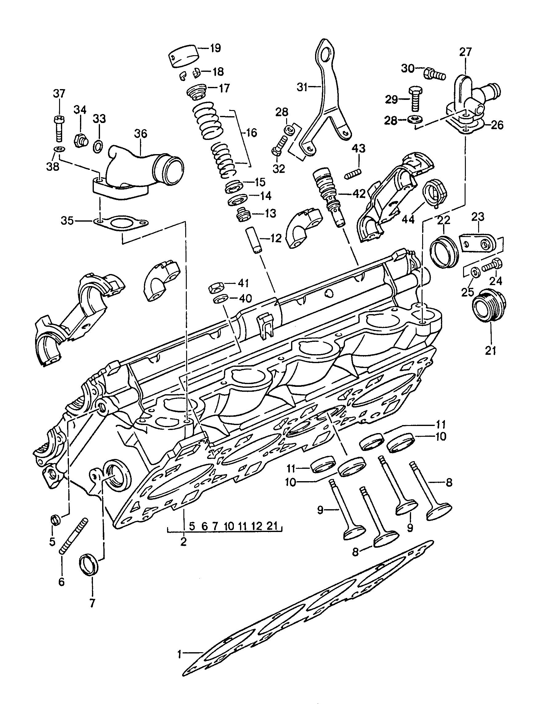 Porsche 944 1989 1991 Cylinder Head Valves Pet 365 Engine Diagram