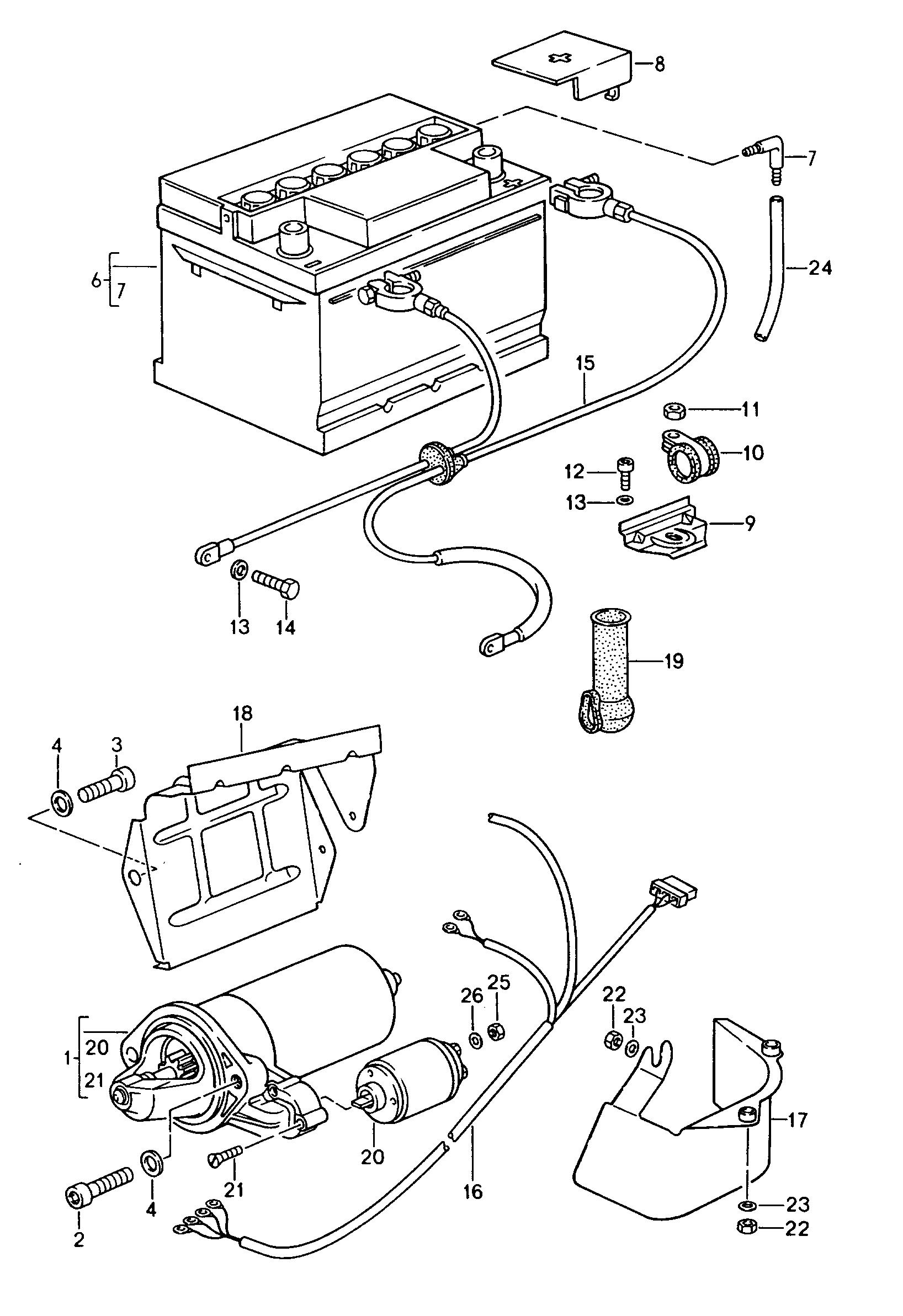 Porsche 944 Starter Wiring Diagram Schematics 1986 Pontiac Fiero 1989 1991 Battery Harnesses 1992