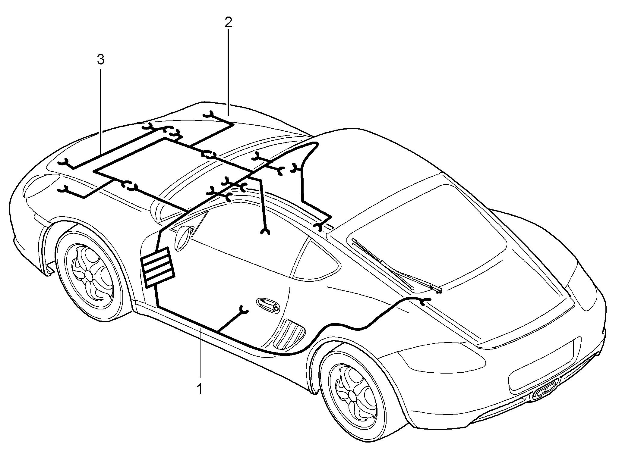 Porsche Cayman 2006 2008 Shock Absorber Seat Belt Tensioner Wiring Harness Pet
