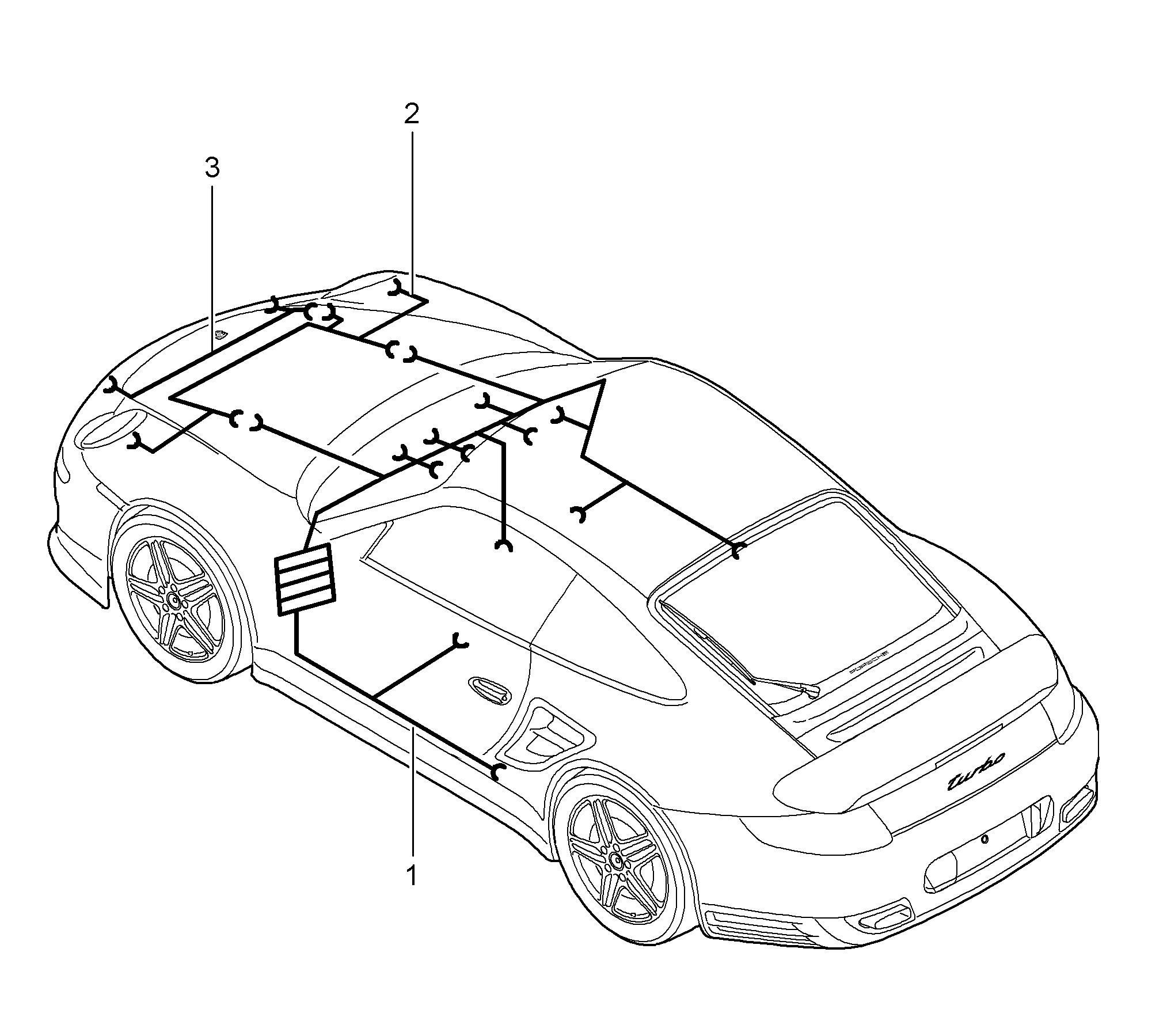 Porsche 911 Turbo Gt2 2007 2009 Shock Absorber Seat Belt Wiring Harness Pet