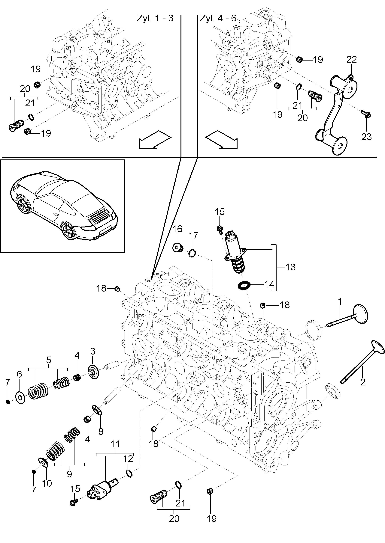 12x Ventile 6x Einla/ßventil + 6x Ausla/ßventil