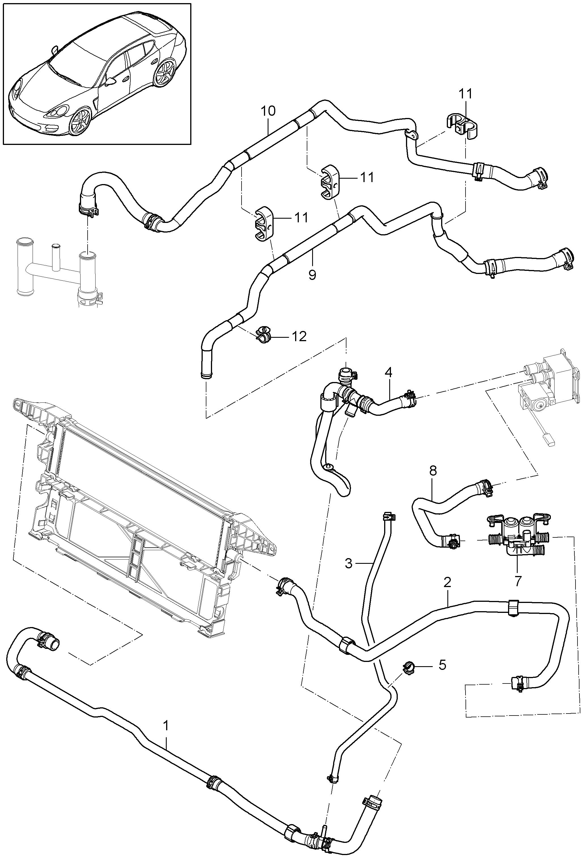 Porsche Panamera 2010 2016 Cooling Battery Water Engine Diagram Pet