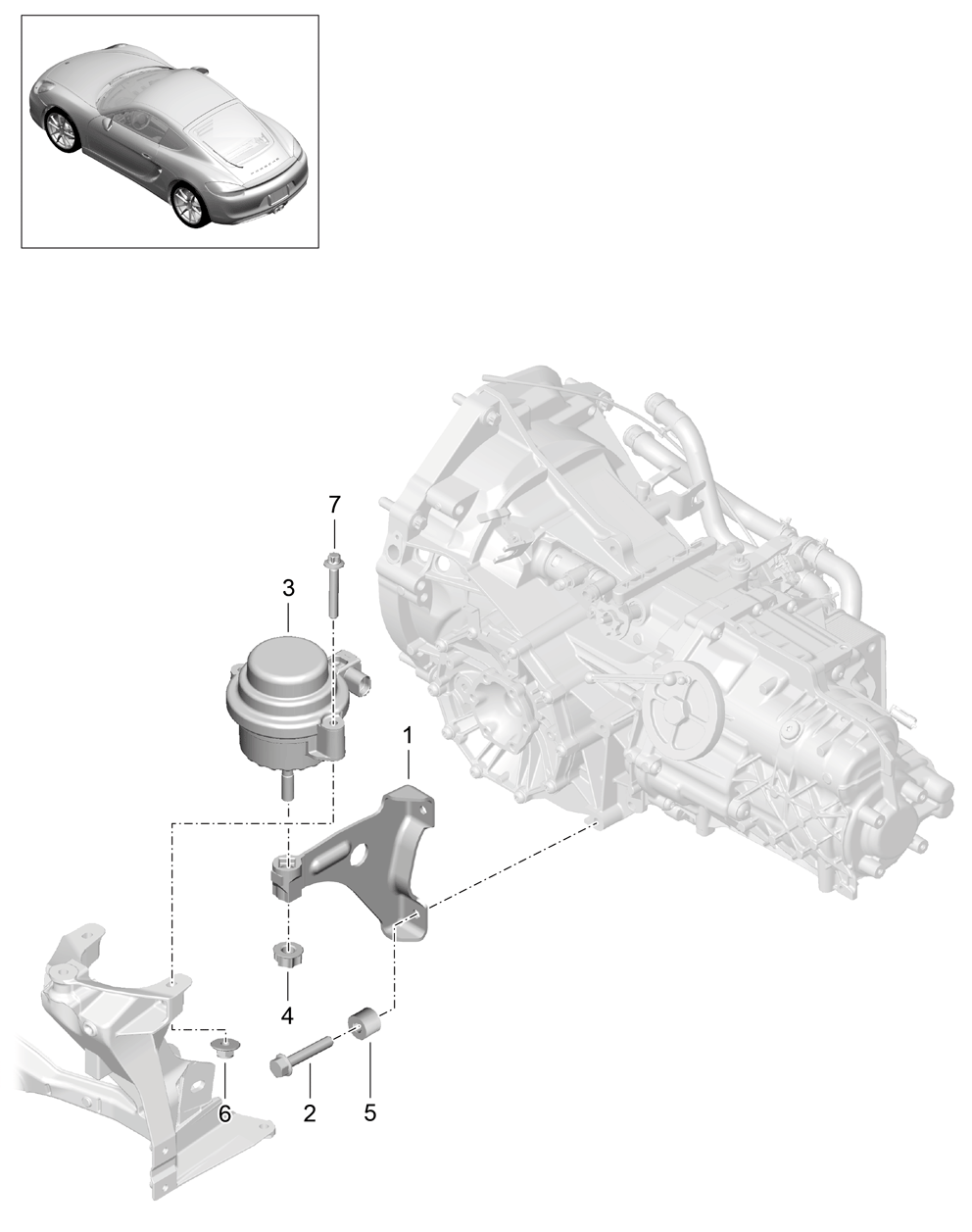 Porsche Cayman 2014 2016 Engine Threaded Joint Transmission Diagram Pet