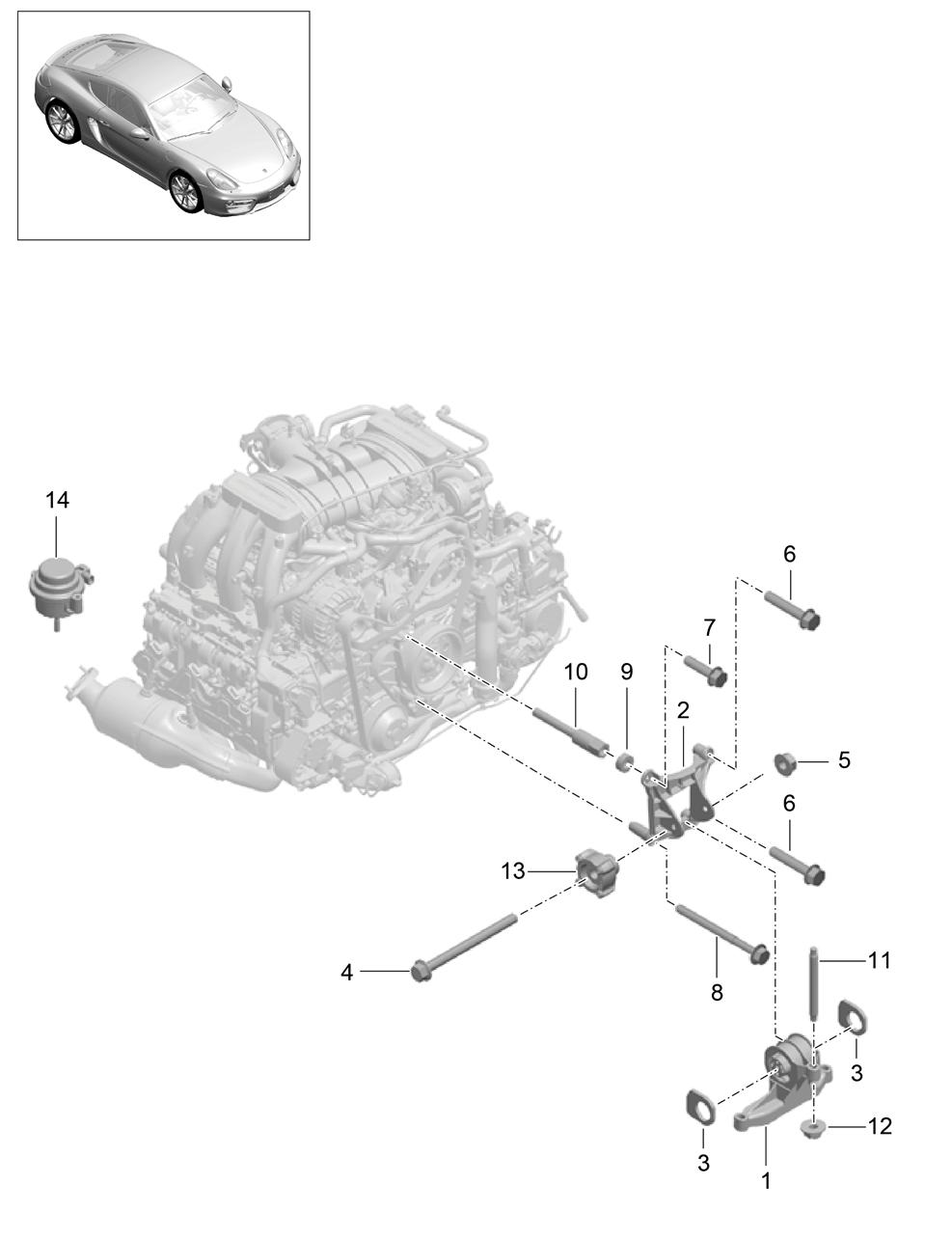 Porsche Cayman Gt4 2016 Engine Suspension Pet Diagram