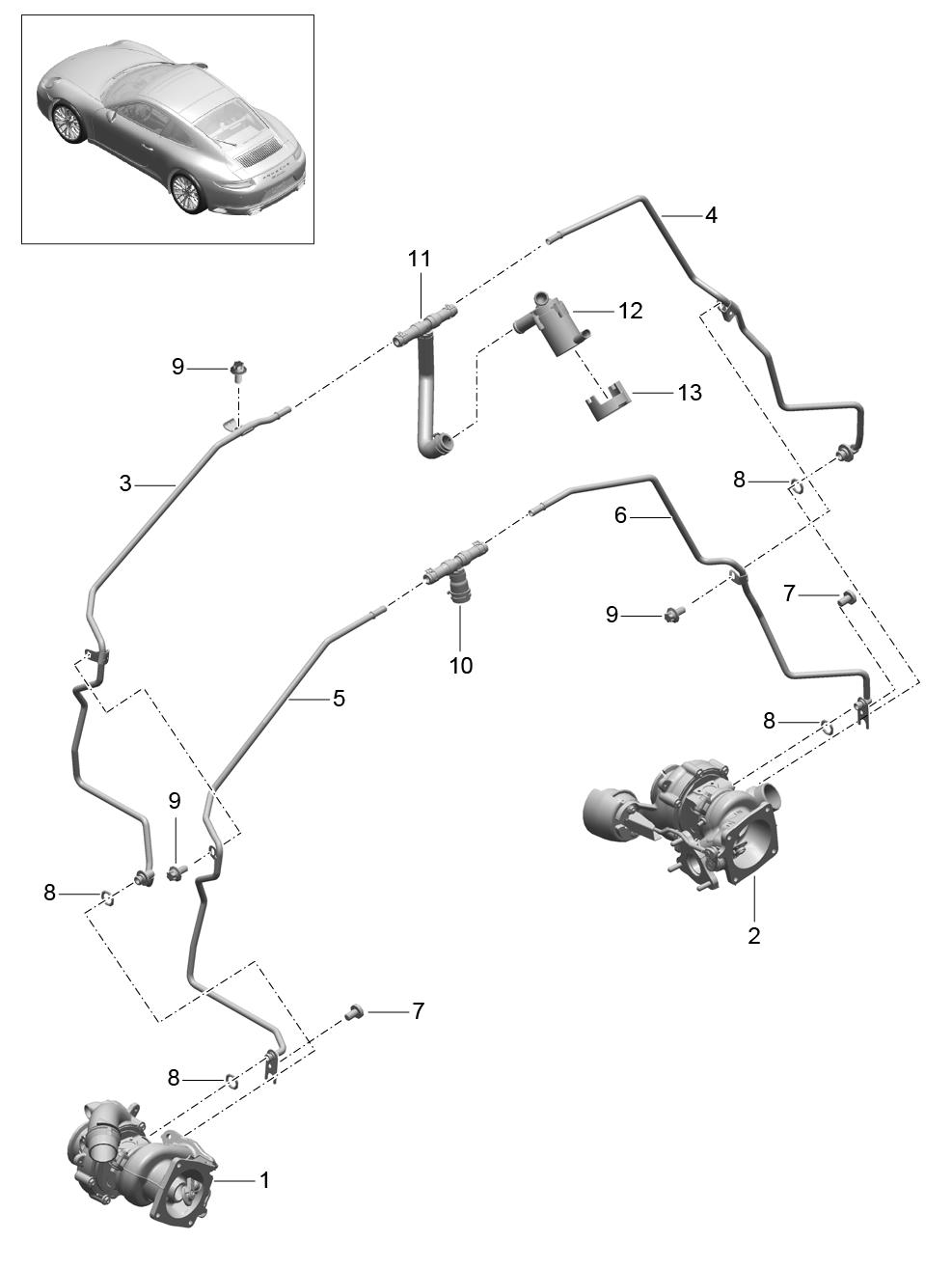Porsche 911 Carrera 2nd Gen 2017 Water Line Cooling Engine Diagram Pet