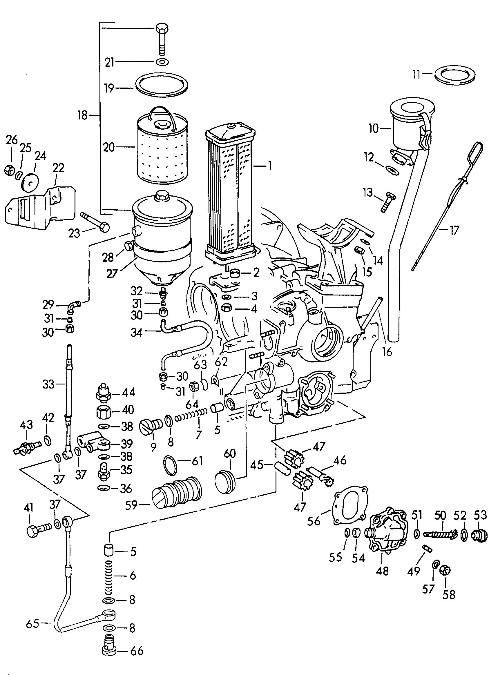 porsche 356/356a (1950 - 1959) - engine lubrication. > porsche pet ...  nemigaparts.com