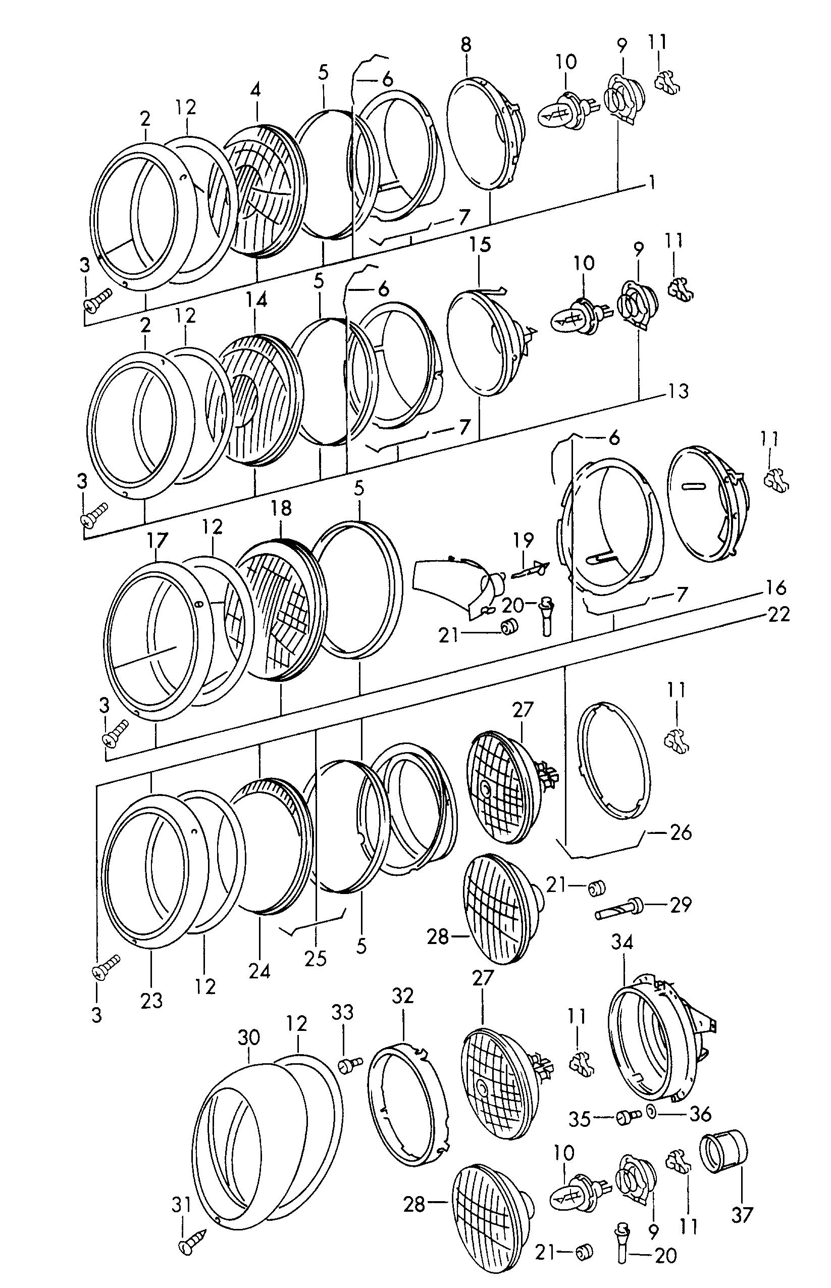 """Résultat de recherche d'images pour """"porsche 912 usa phare schema"""""""