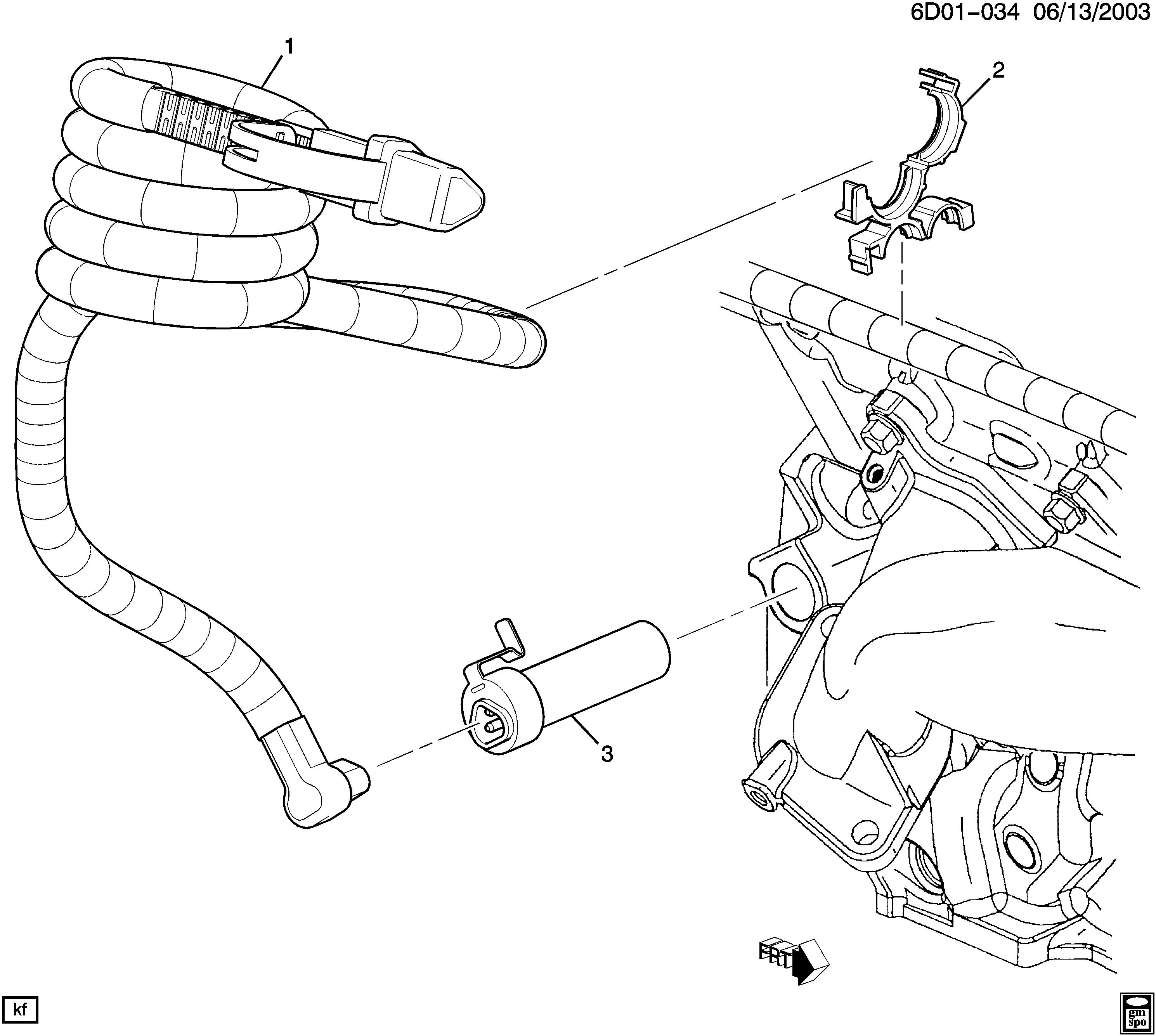 Cadillac Cts D Engine Block Heater Ly7 36 7 110v K05 Spare Parts Catalog Epc