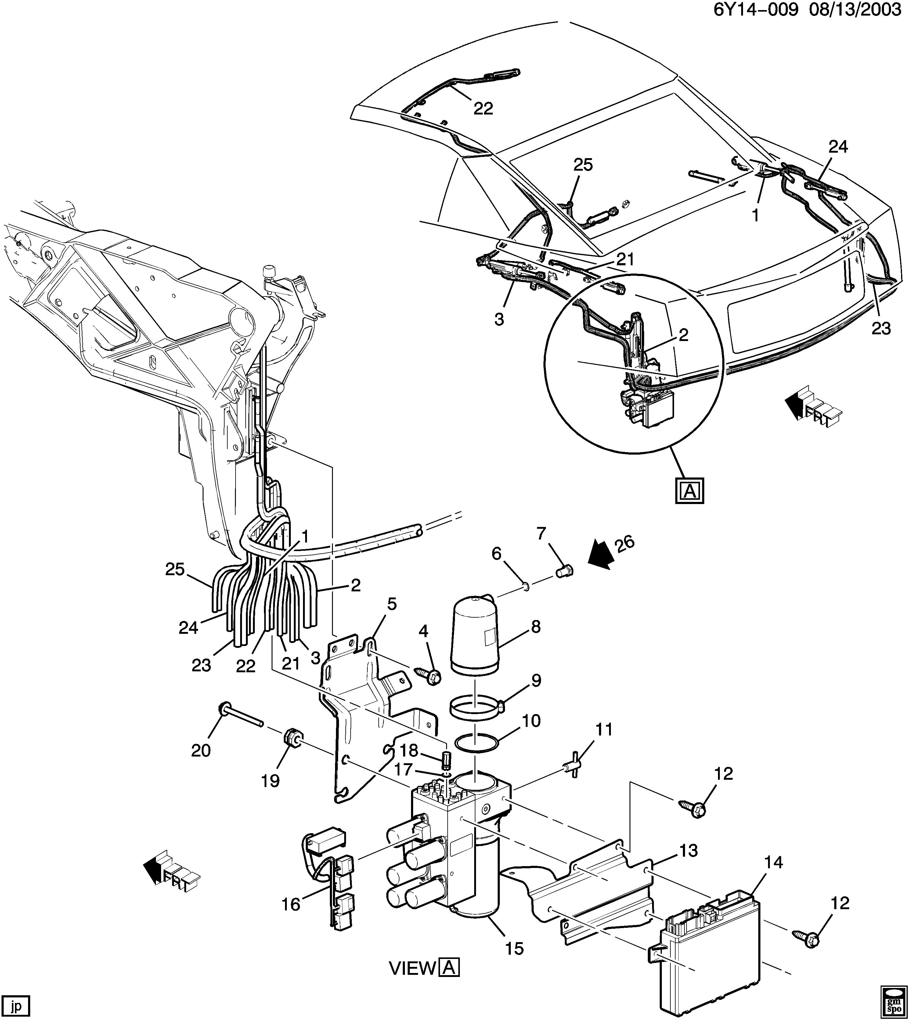 Cadillac Xlr Y Folding Top Mechanism Pump Module Epc Online Wiring Diagram