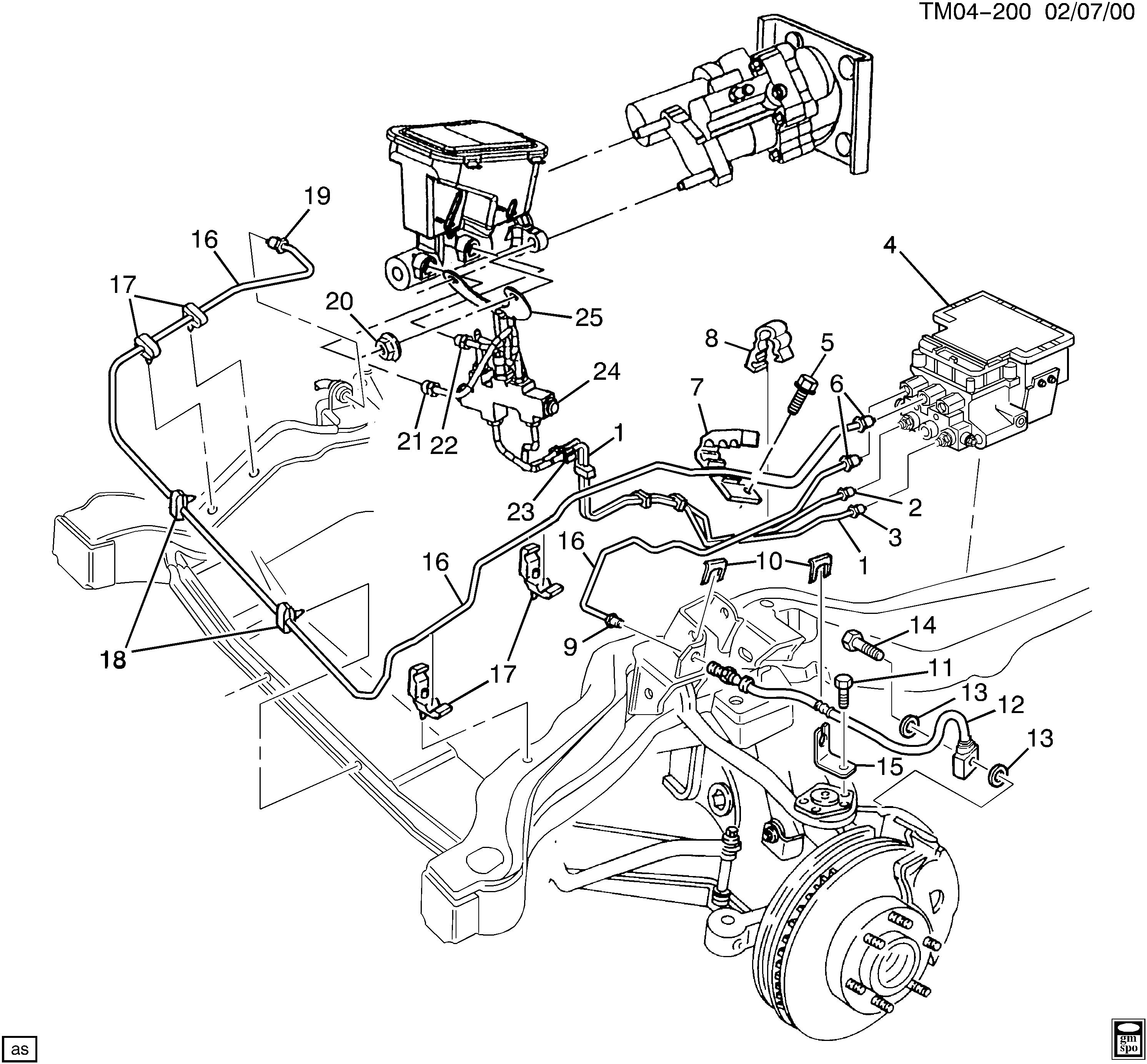 Chevy Astro Brake Line Diagram