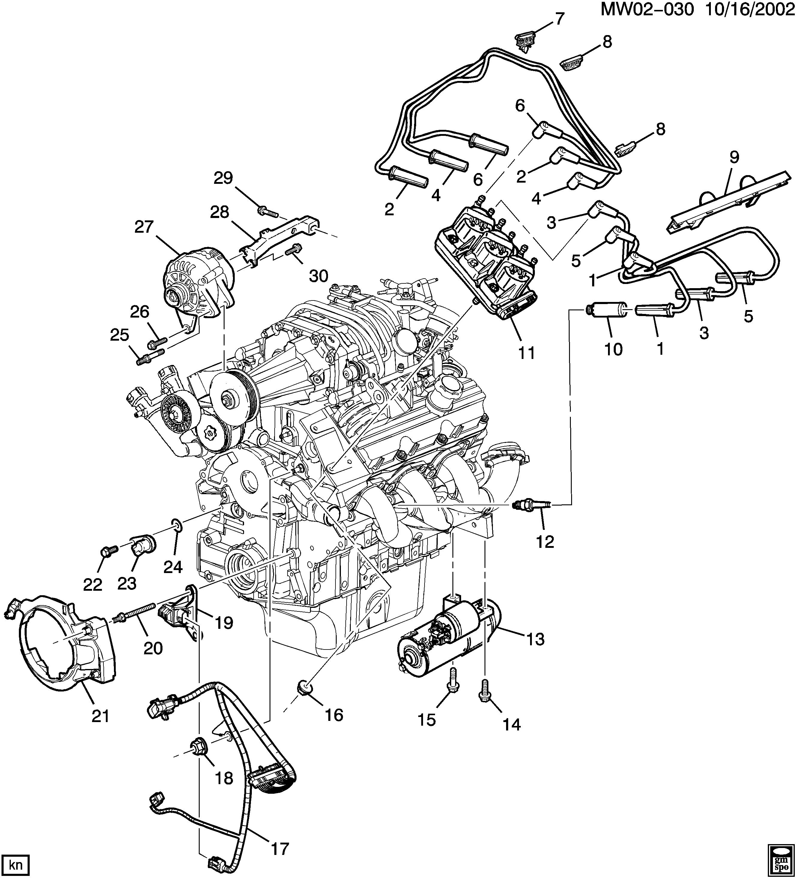 Pontiac Grand Prix - W ENGINE ELECTRICAL (L67/3.8-1) > EPC ...