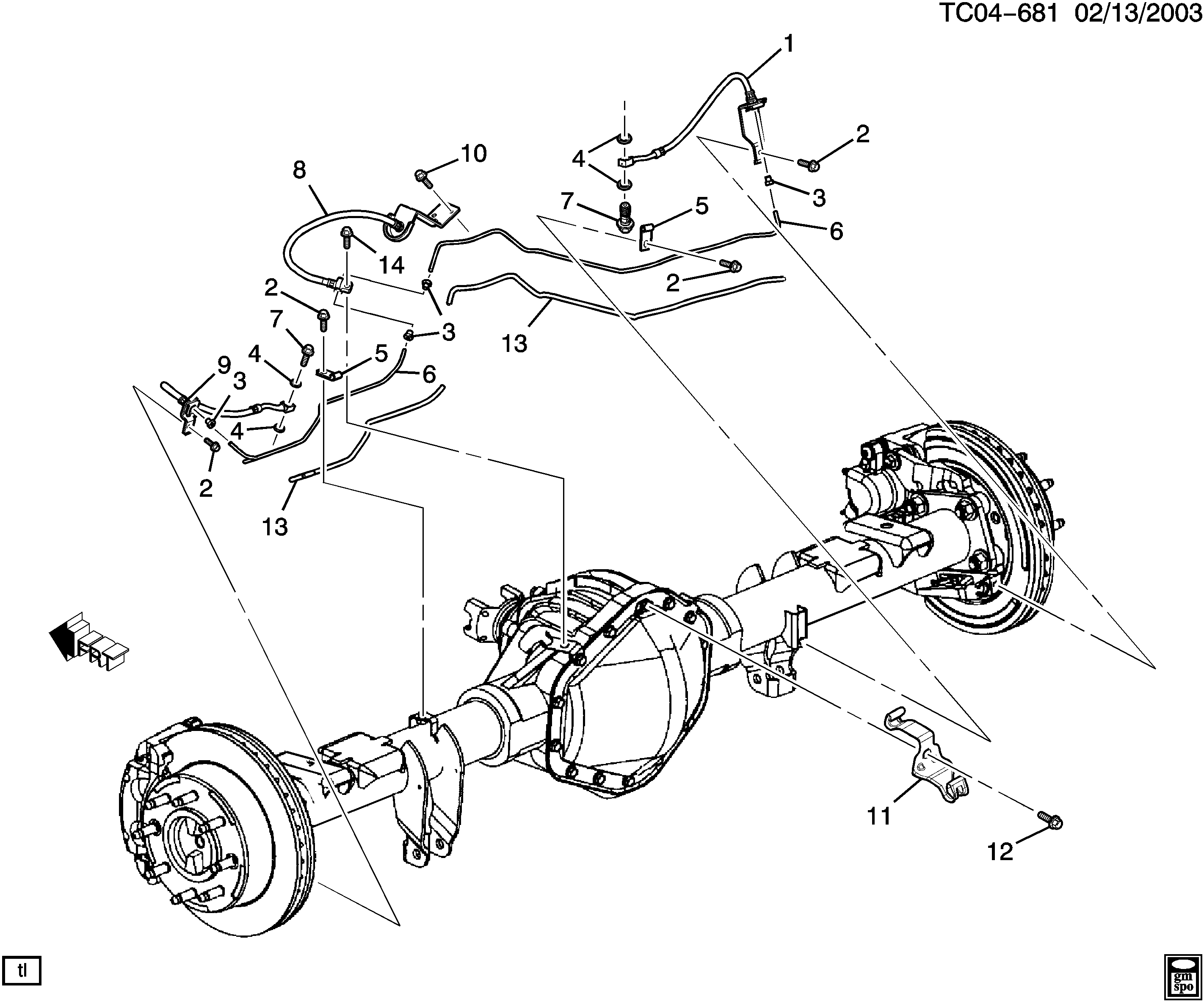 2002 Cadillac Escalade Brake Lines