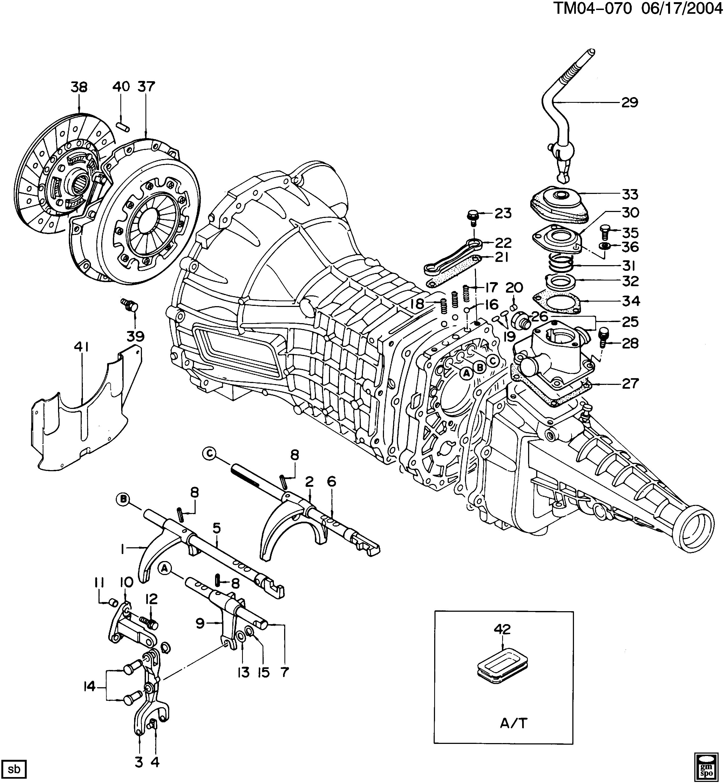 ST SHIFT CONTROLS/MANUAL TRANSMISSION 4 SPEED (ISUZU M73)