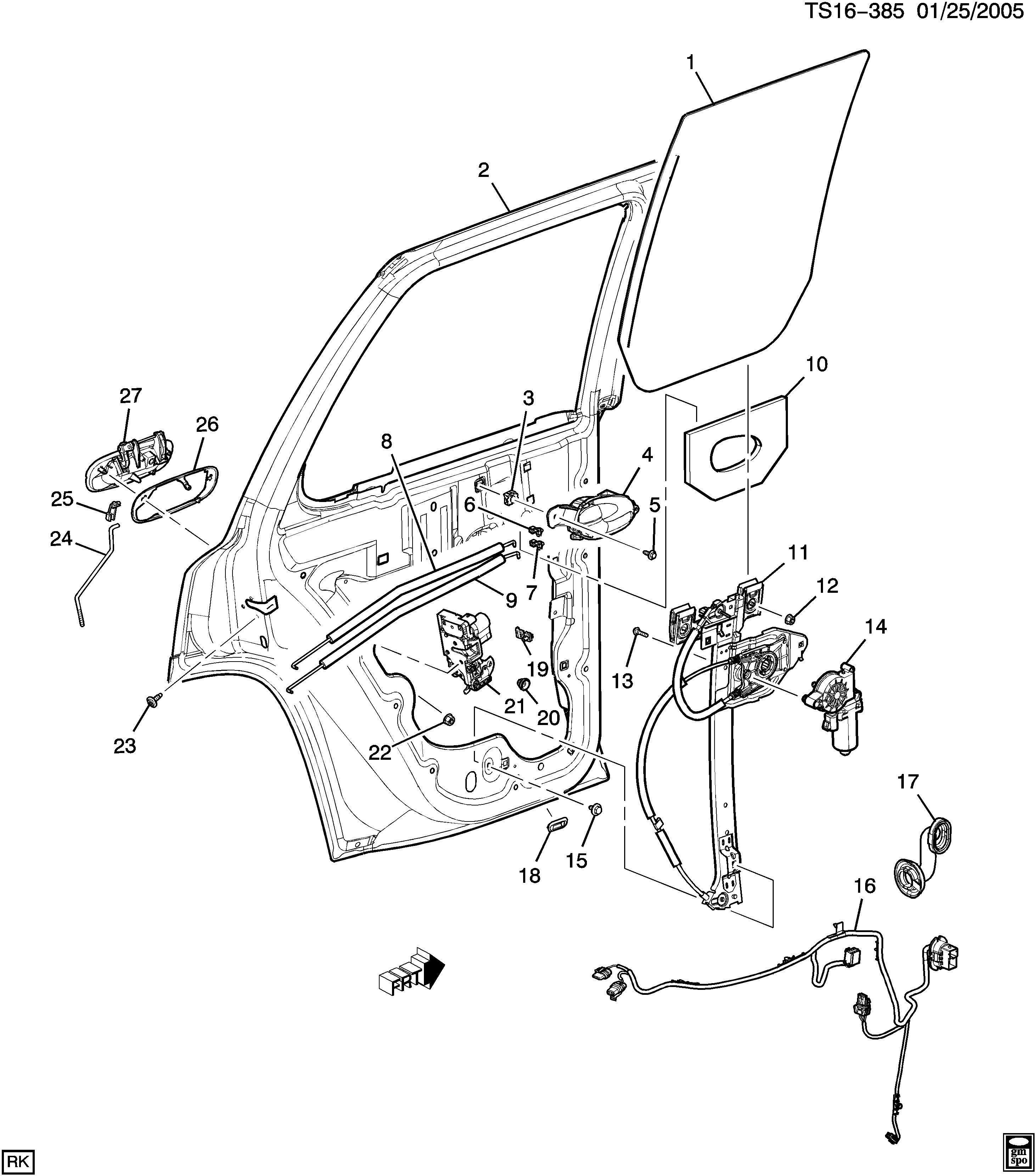 saab 9 7x t1 door hardware side rear part 2 epc online nemiga Saab 9- 5 t1 door hardware side rear part 2