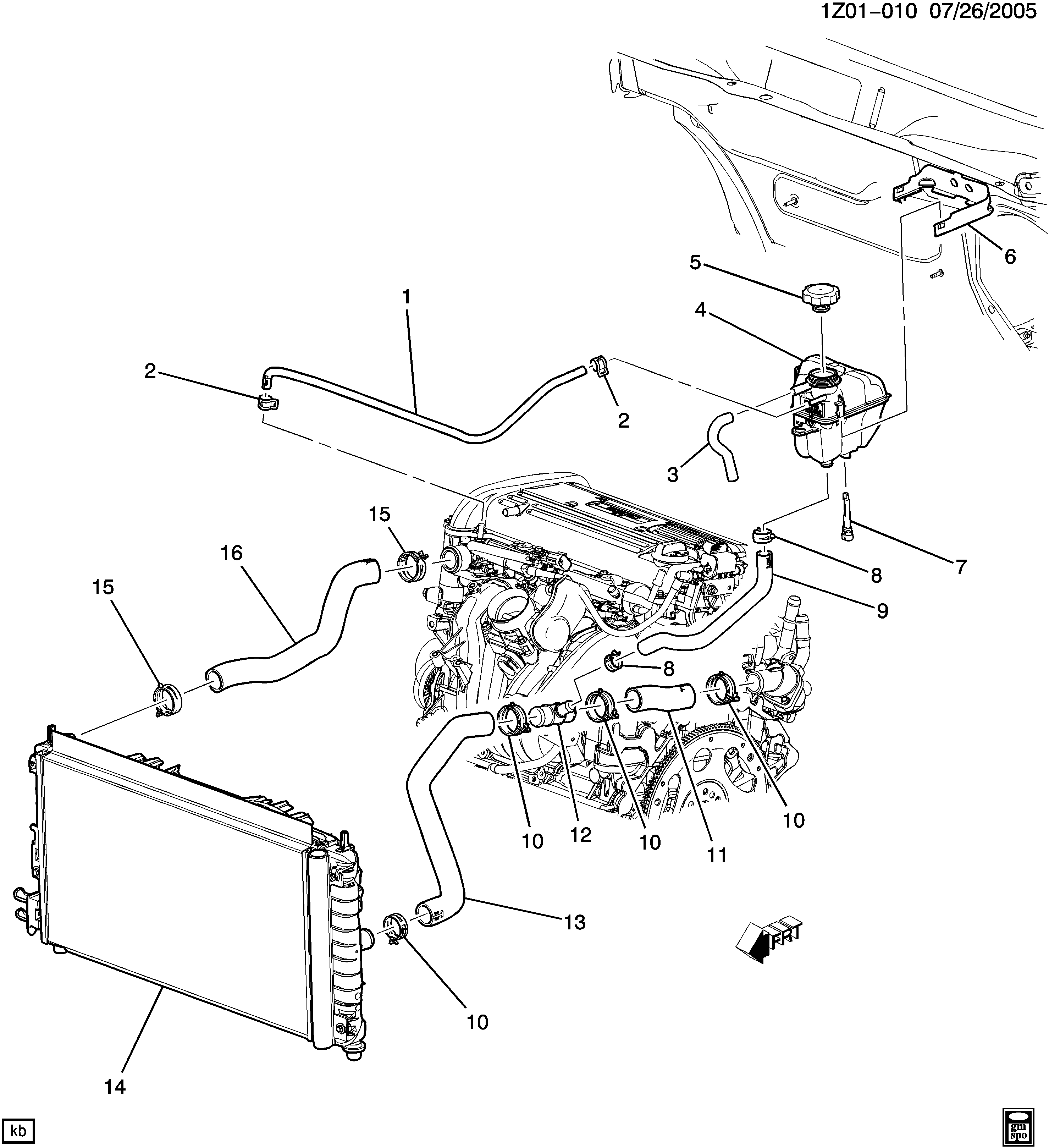 Pontiac G6 Cooling System Diagram