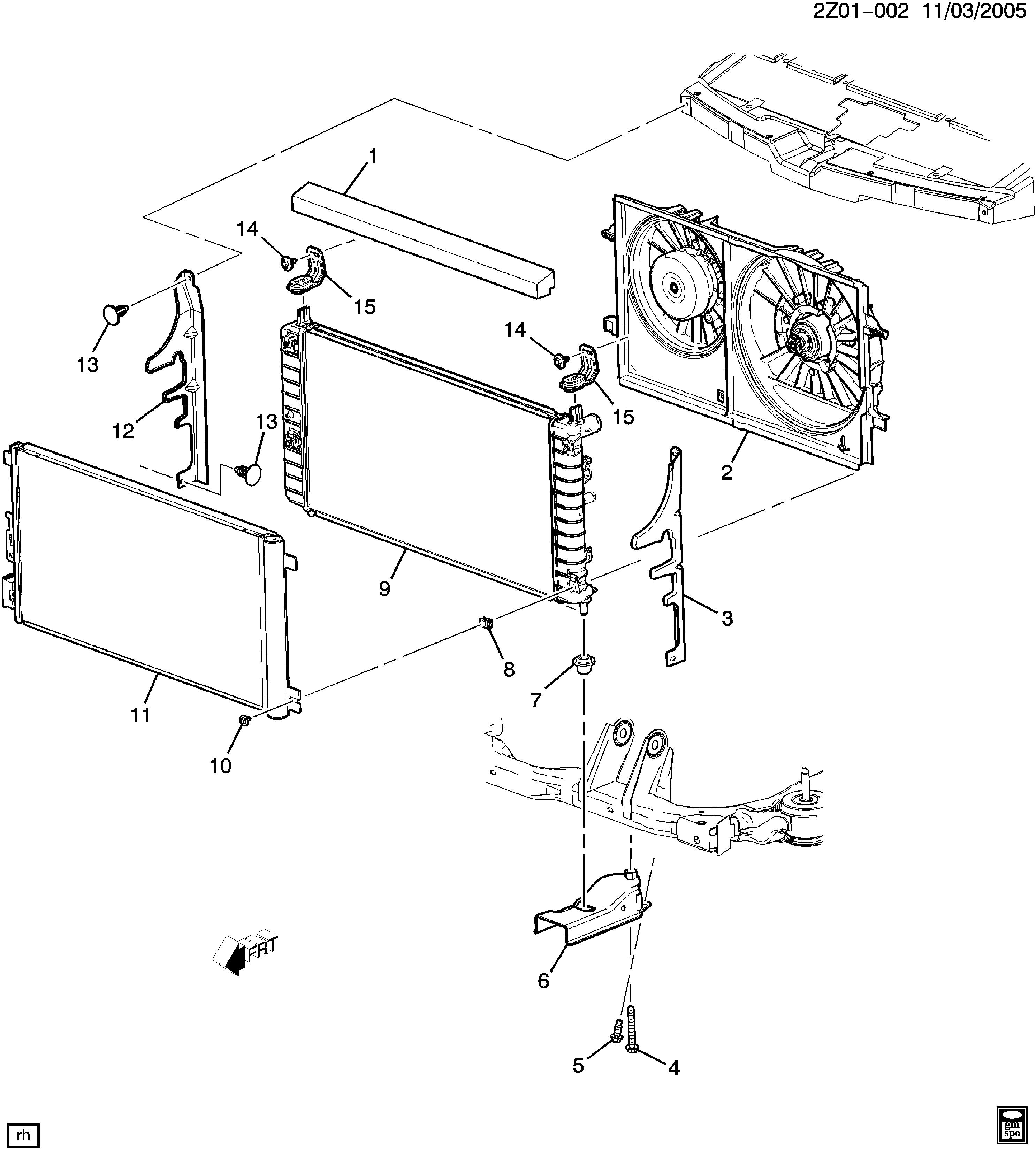 2005 Pontiac G6 Radiator Diagram Experience Of Wiring 3 5 Litre Engine Z Mounting Related Parts U003e Epc Online Rh Nemigaparts Com 35