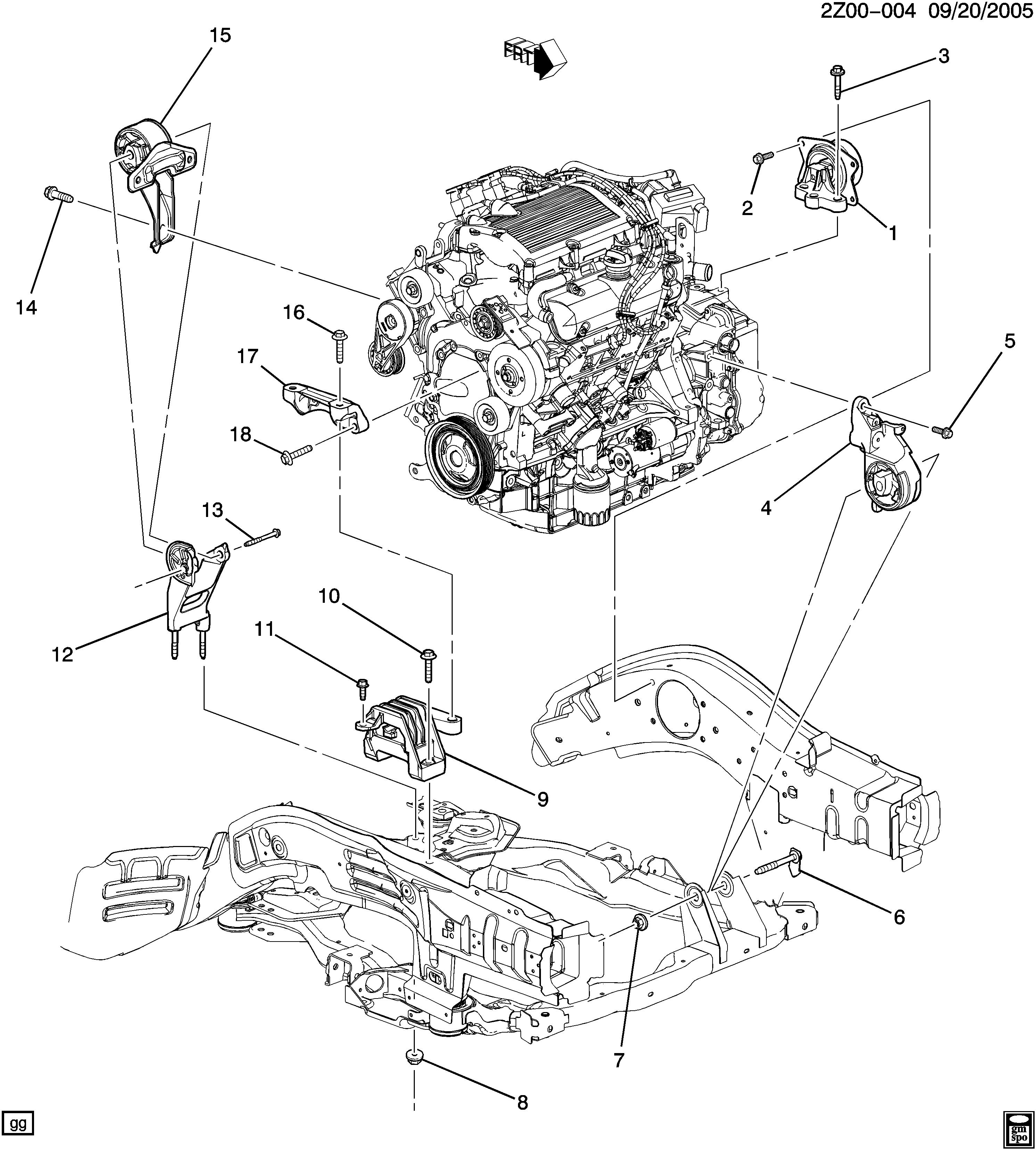 pontiac g6 - z67 montaje motor y transmisiÓn-v6 (lx9/3.5-8) > epc online >  nemiga.com  nemigaparts.com