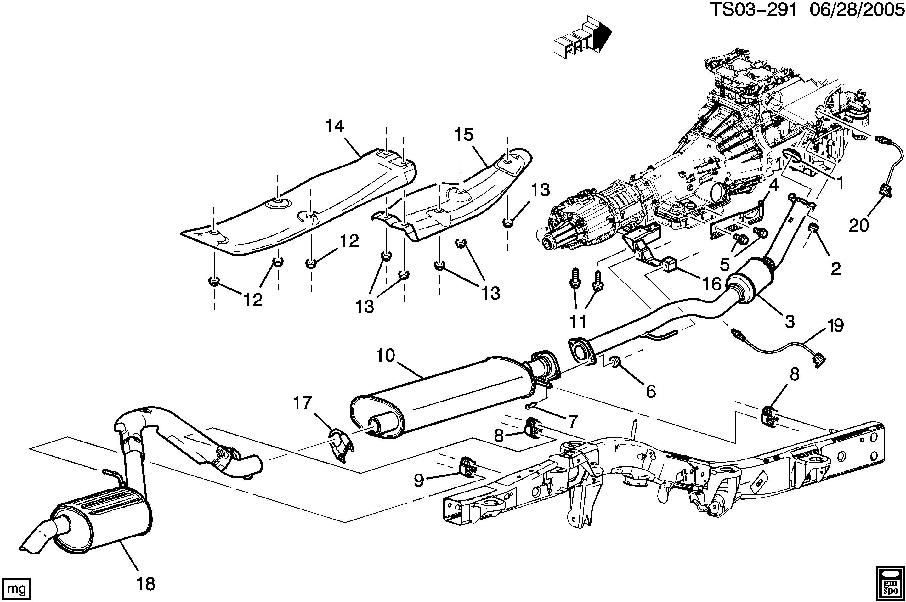 2003 Wrx Stock Exhaust Diagram
