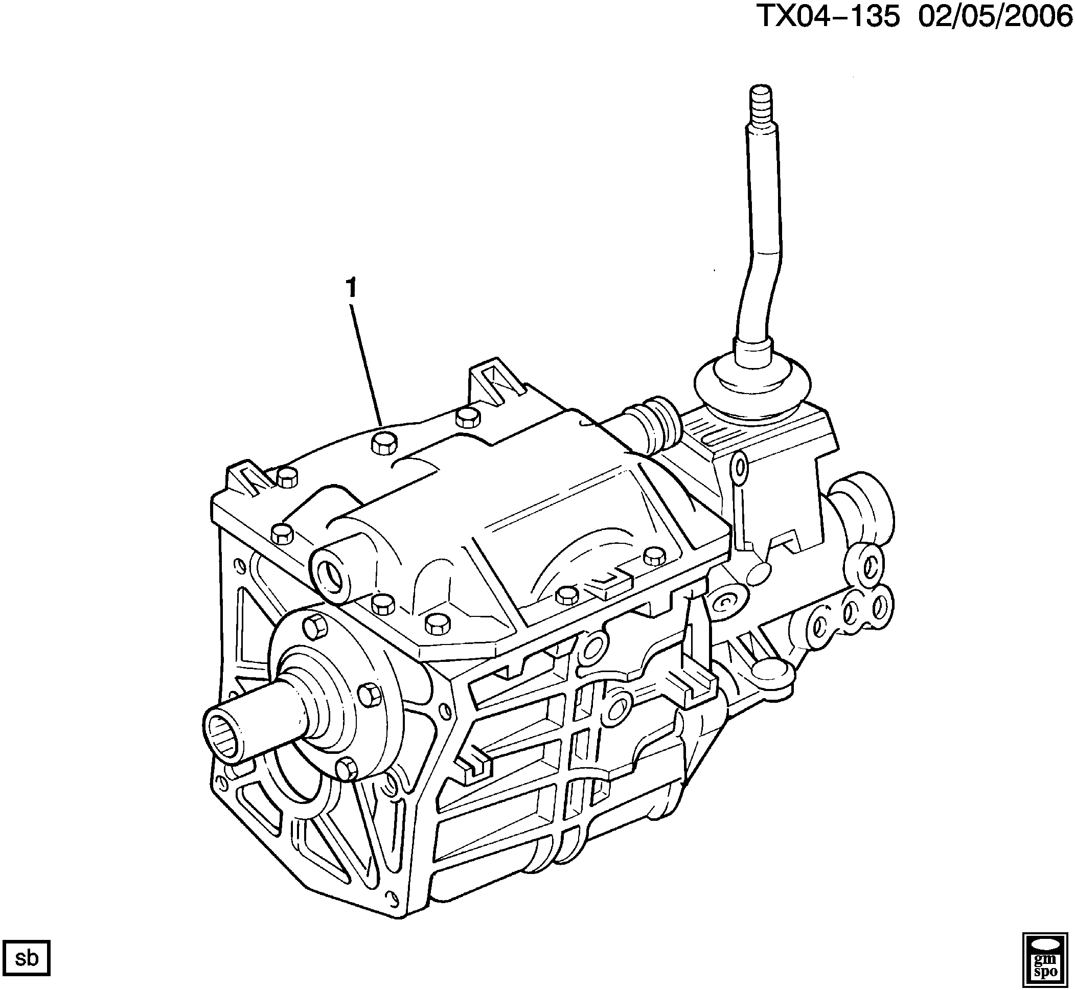 K1500 PICKUP 4WD - Carryover Model - 5-speed manual transmission