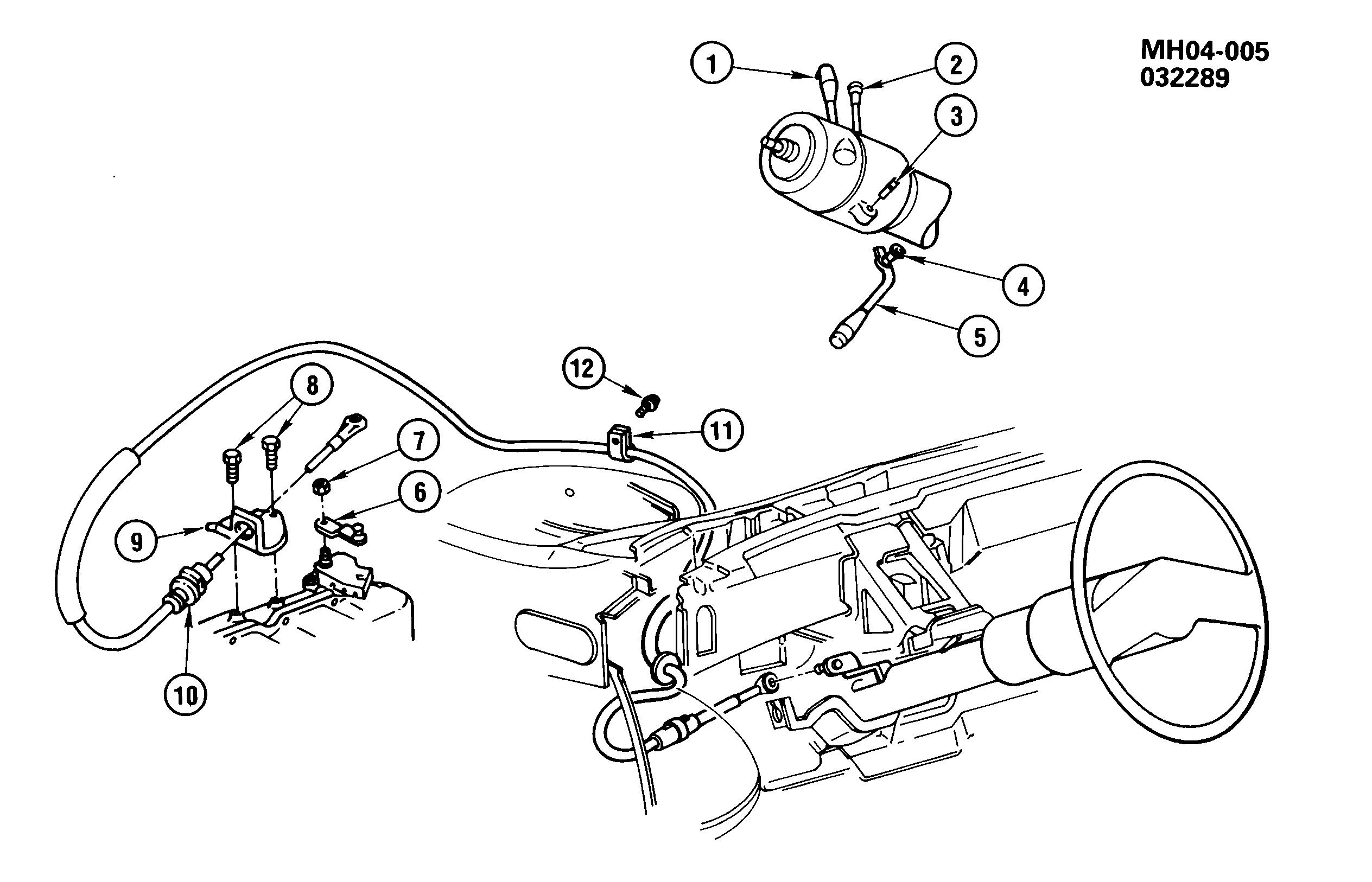 Buick Lesabre H Shift Control Automatic Transmission Column Epc Diagram Spare Parts Catalog