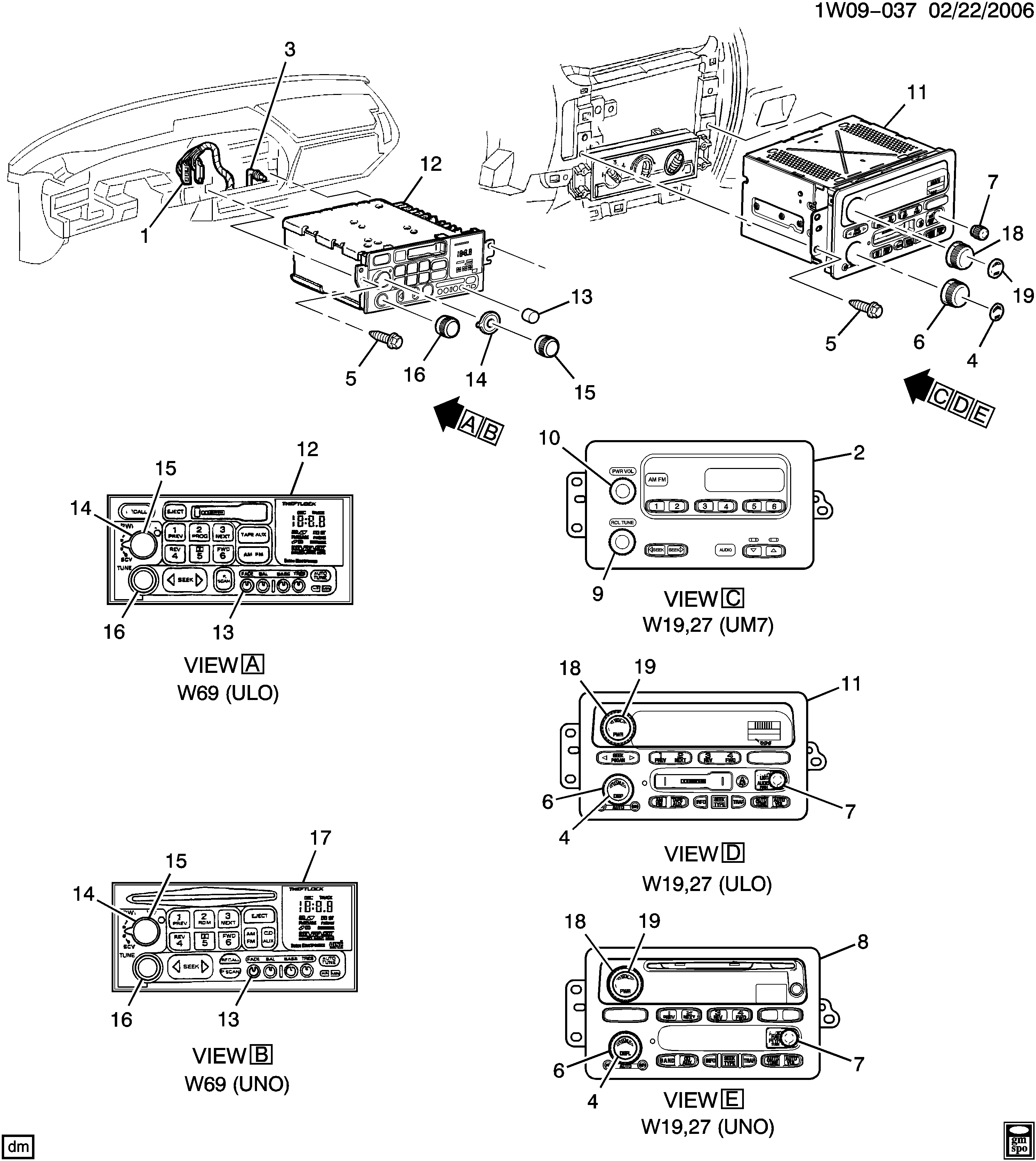Impala - Radio asm & mounting > Chevrolet EPC Online > Nemiga.com on
