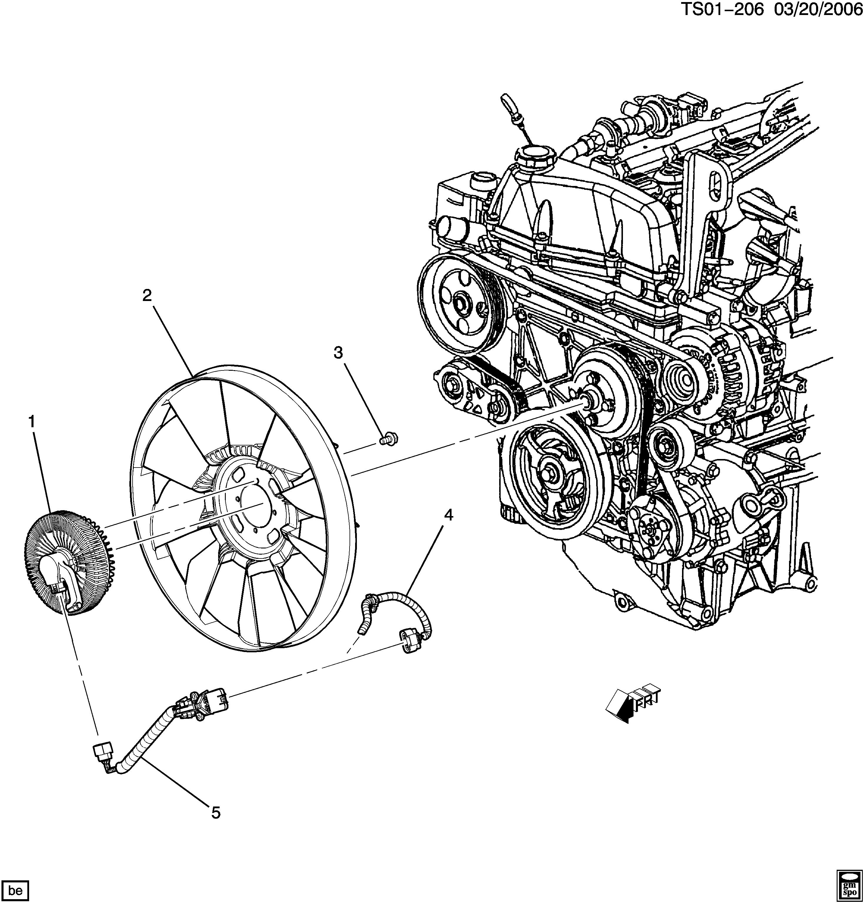Oldsmobile BRAVADA 4WD - ST ENGINE COOLANT FAN & CLUTCH (LL8