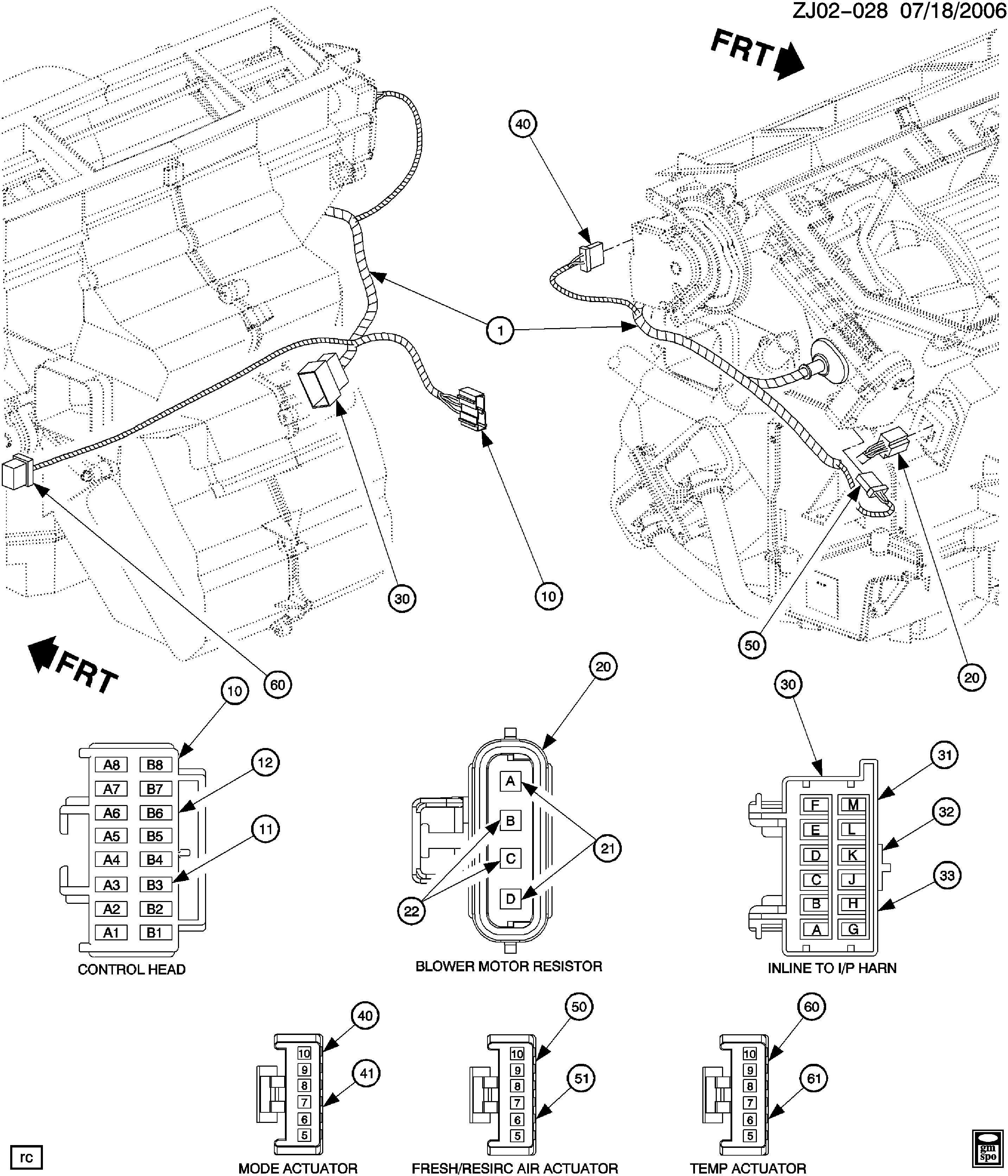 Saturn L Series J Wiring Harness Hvac Connector Views Epc Spare Parts Catalog