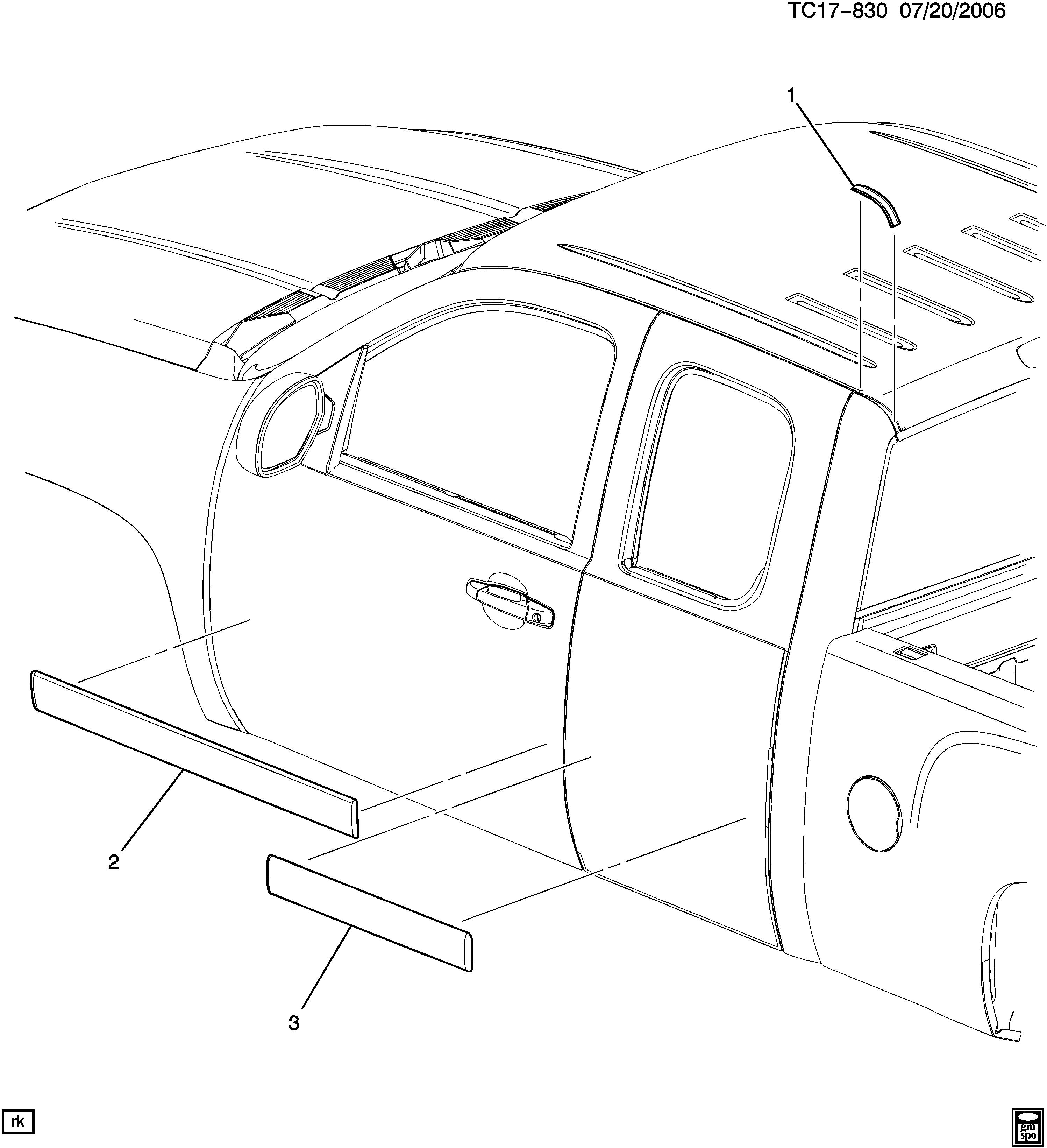 Molding 20817040 General Motors